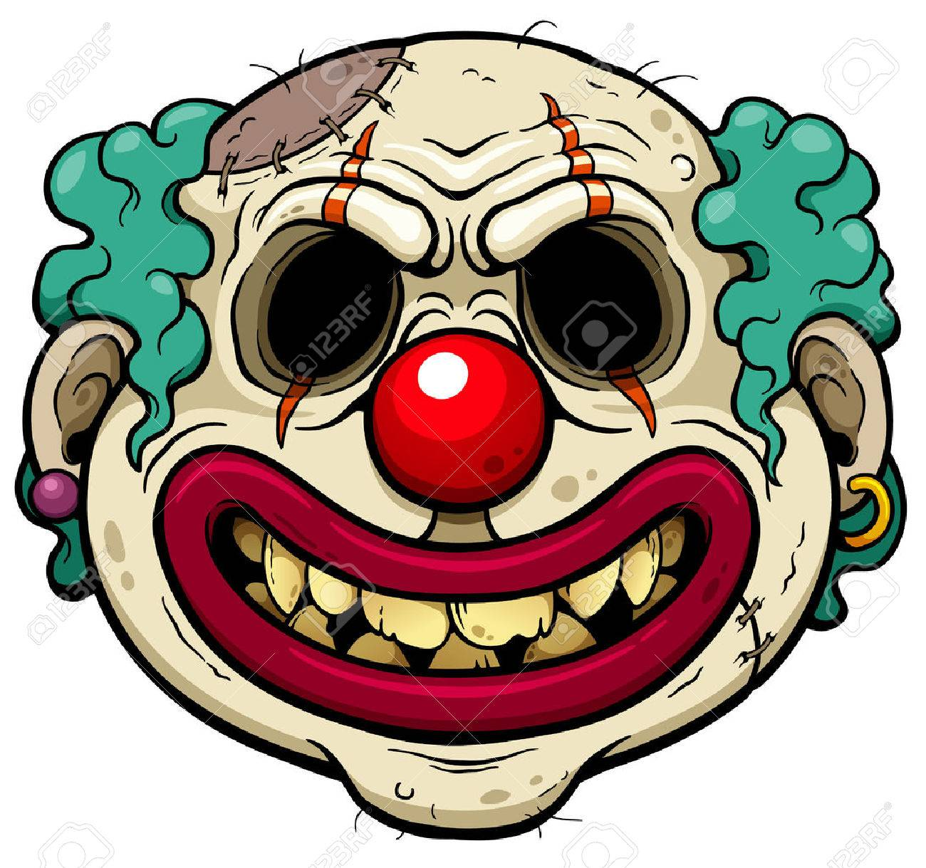 937 scary clown stock vector illustration and royalty free scary