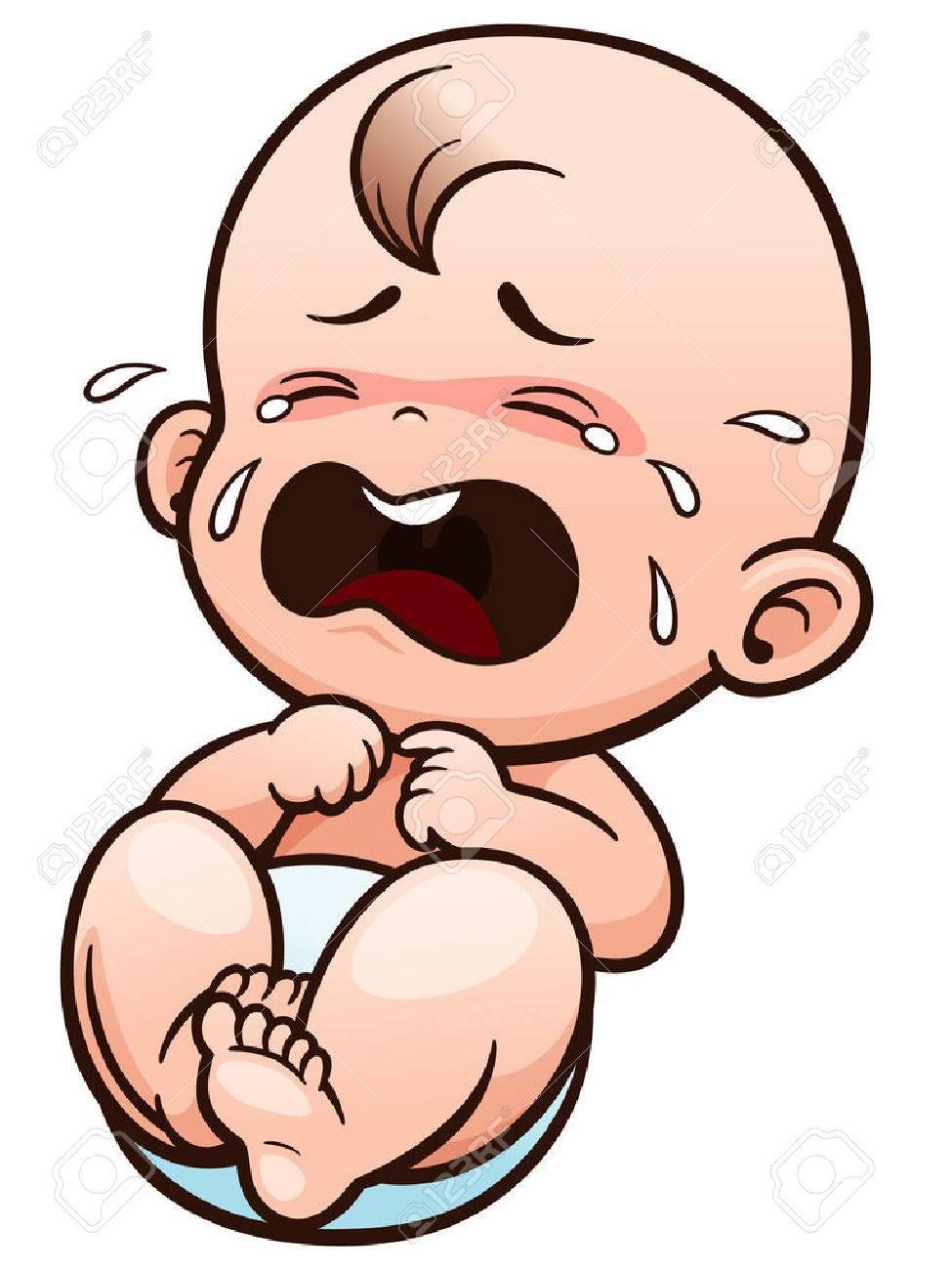 Vector Illustration of Cartoon Baby crying - 66380169