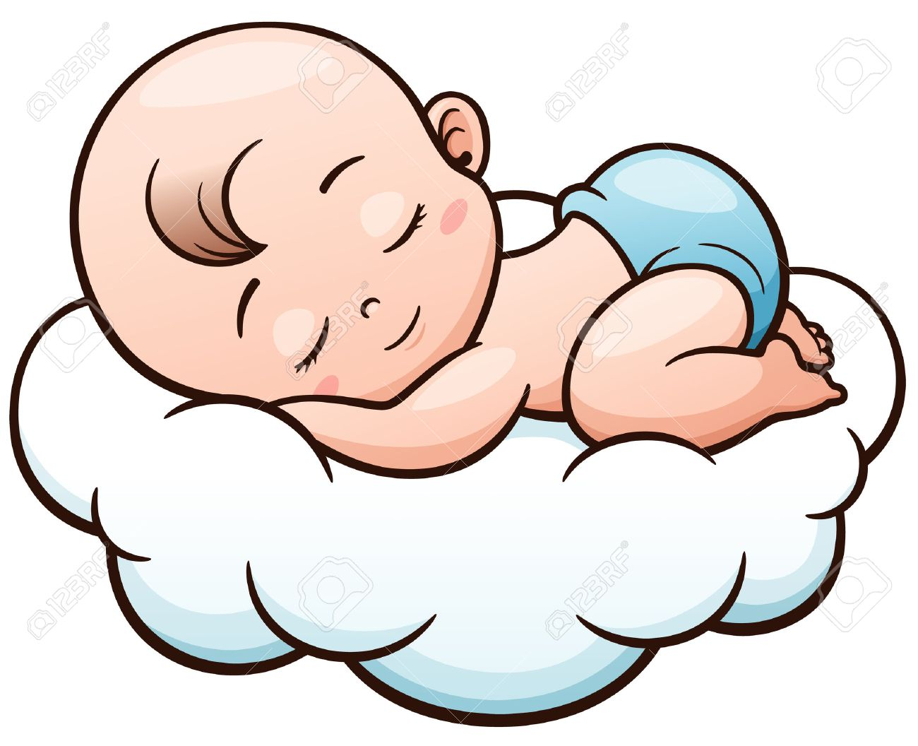 Vector illustration of cartoon baby sleeping on a cloud royalty free vector illustration of cartoon baby sleeping on a cloud stock vector 66380184 voltagebd Image collections