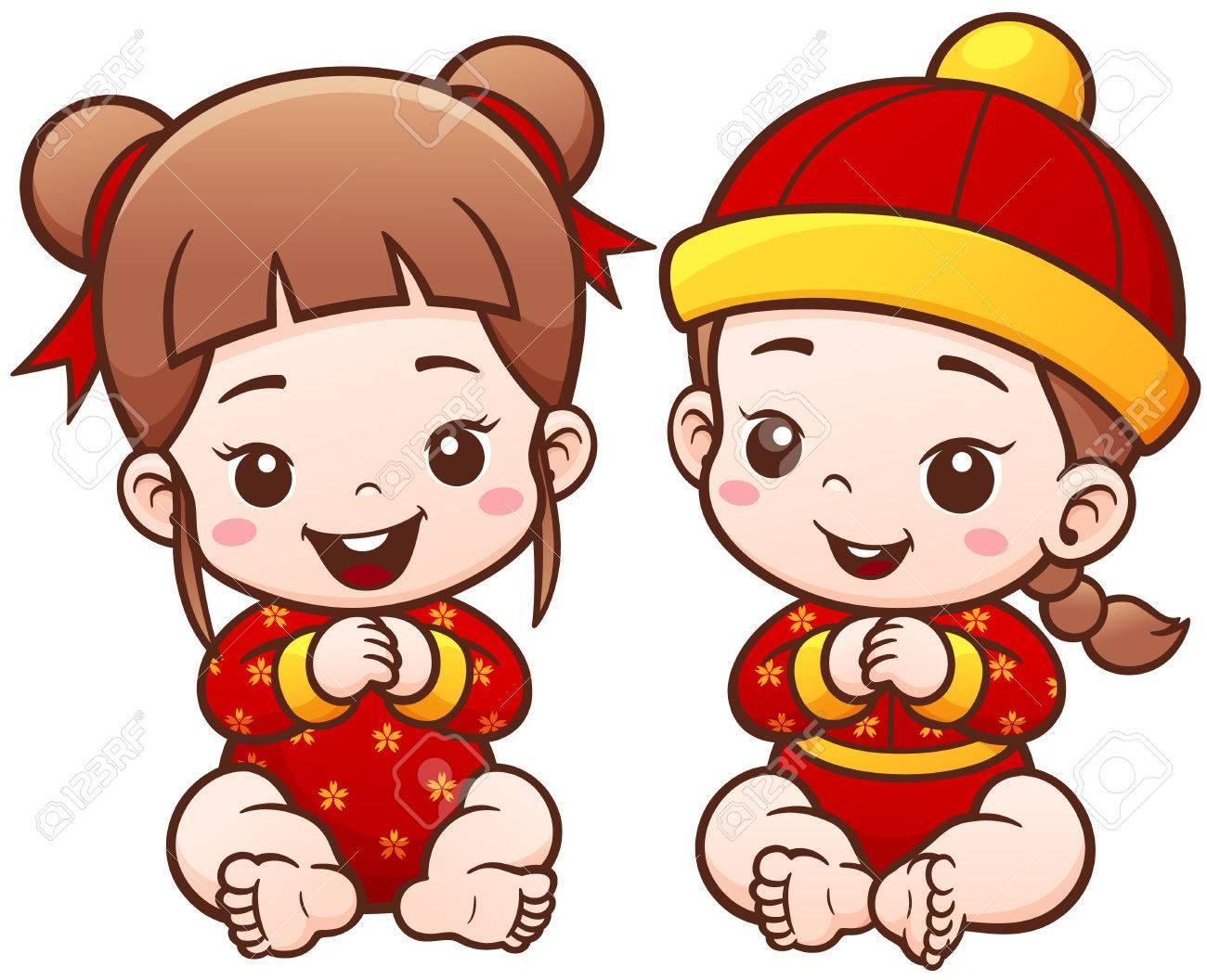 Vector illustration of cartoon chinese kids cute baby royalty vector illustration of cartoon chinese kids cute baby stock vector 66380312 buycottarizona