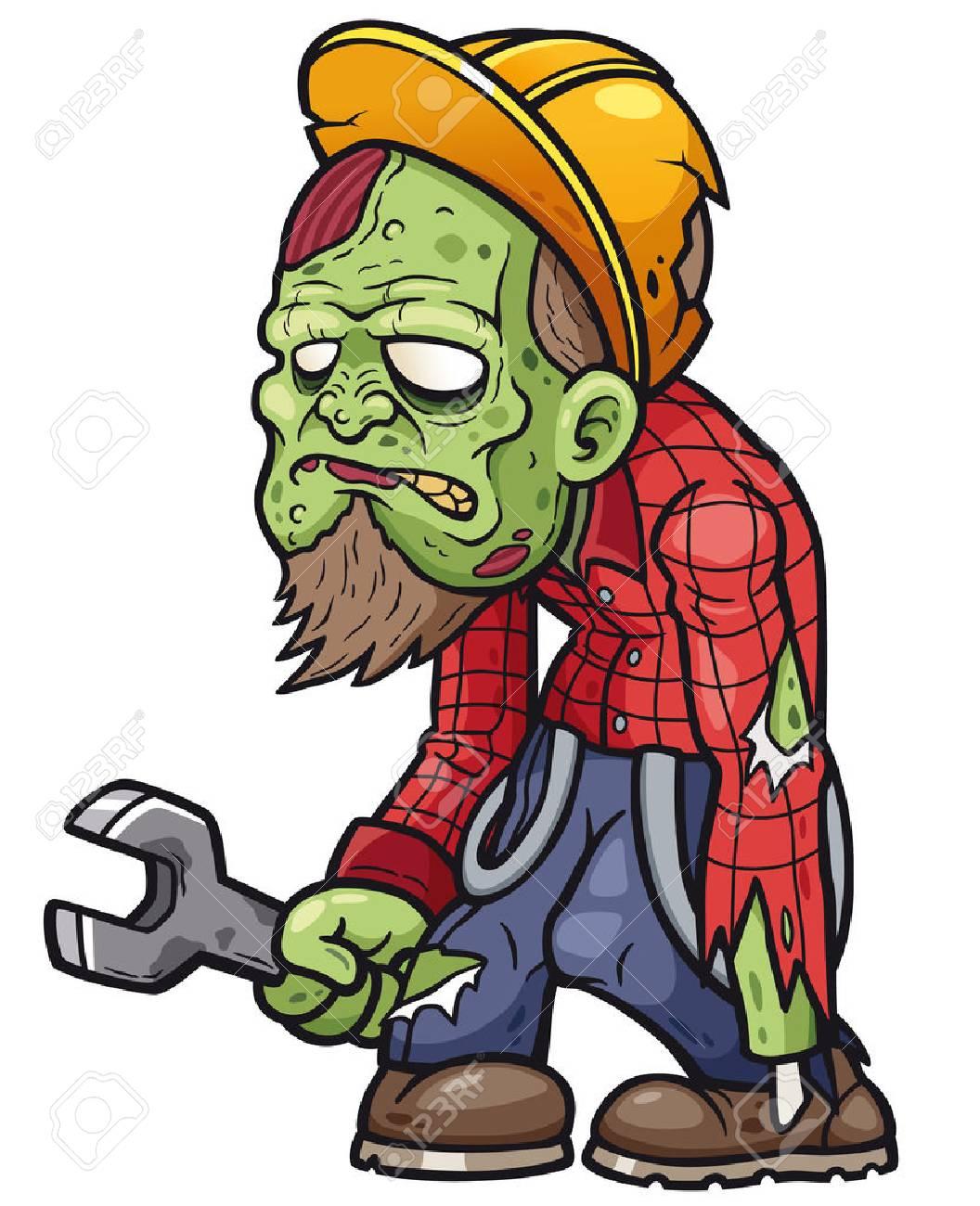 Vector illustration of Cartoon zombie - 85863124