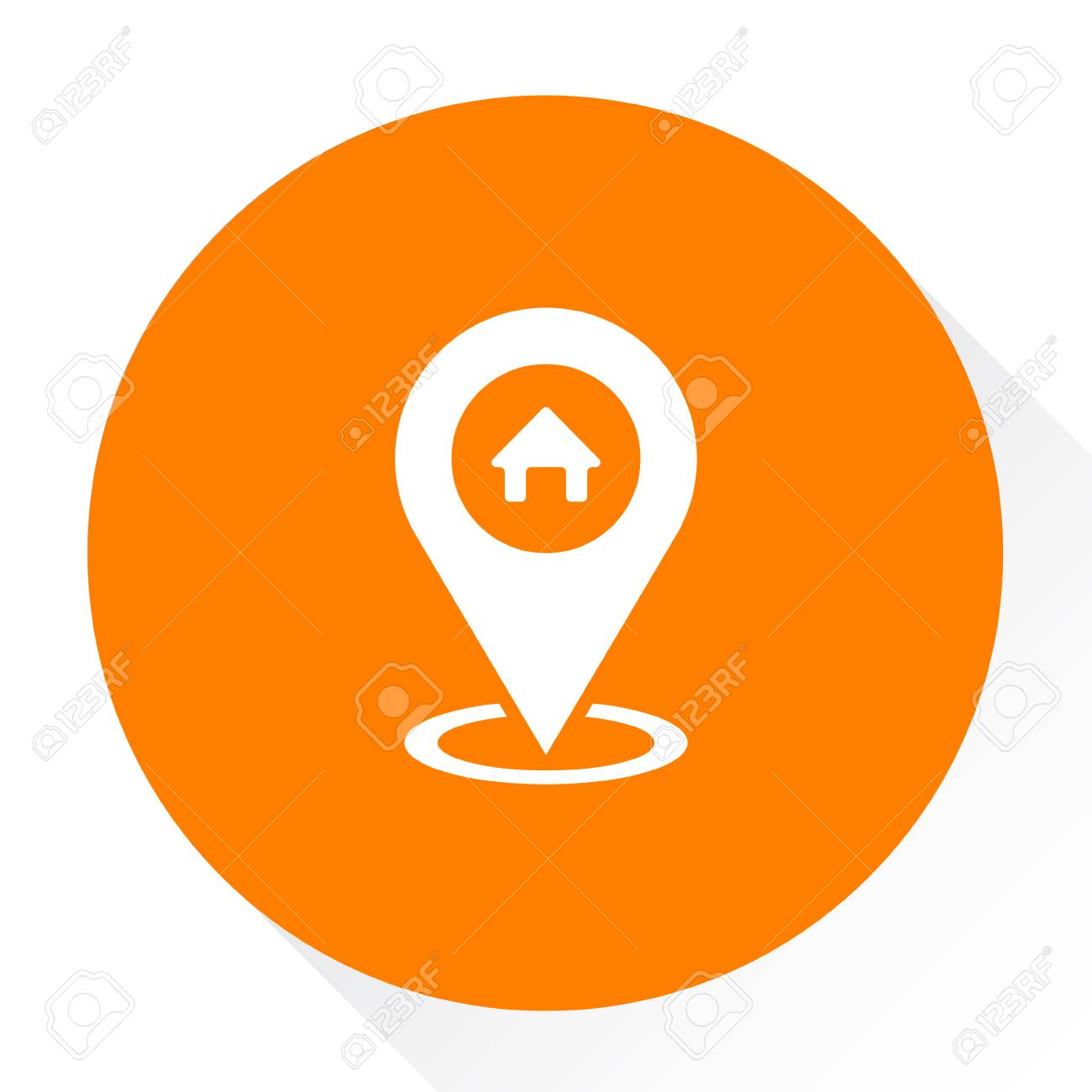 home gps icon royalty free cliparts vectors and stock illustration