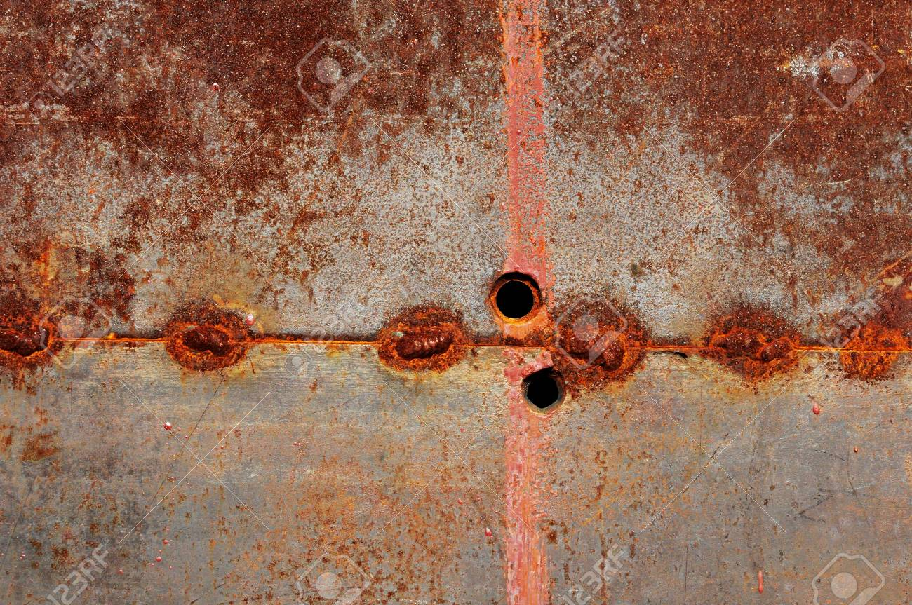 Rusted steel tin abstract pattern Stock Photo - 14193658