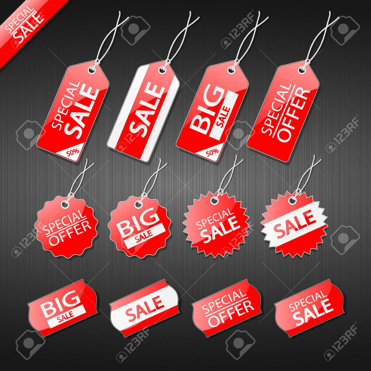 Set of tags for sale. - 33619075