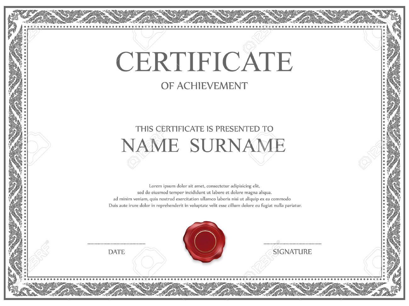 Großartig Zertifikat Kostenlose Vorlagen Bilder - Entry Level Resume ...