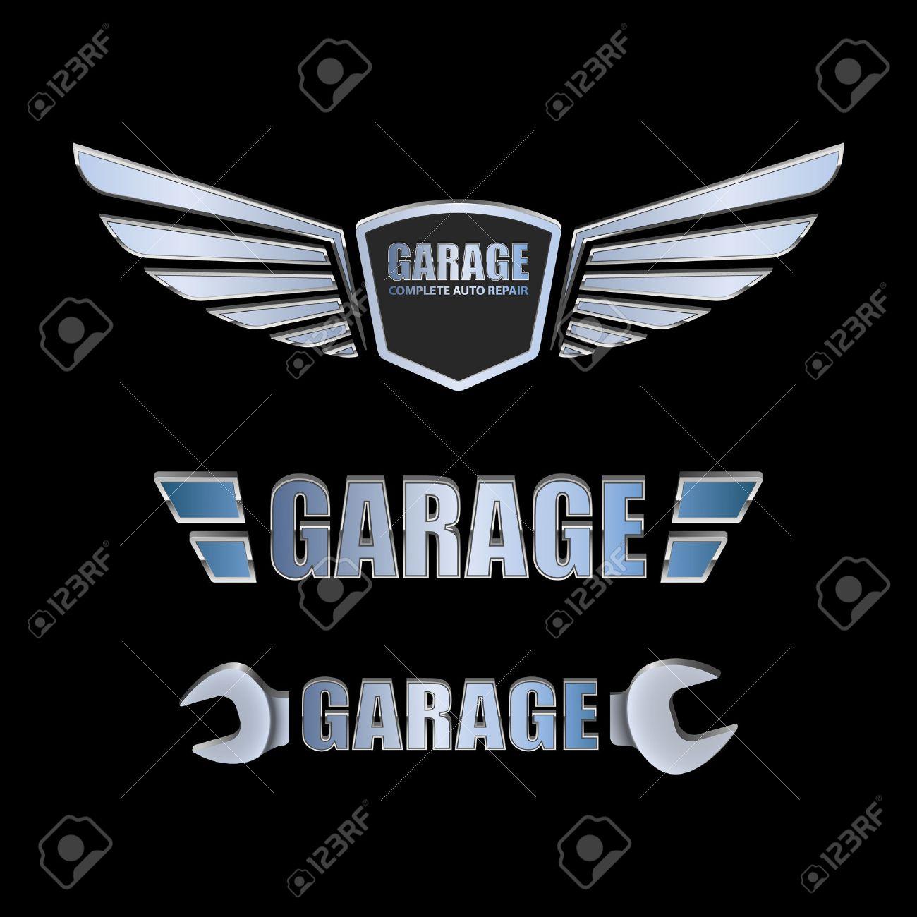 Design car emblem - Auto Logo Vintage Garage Retro Label Design Vector