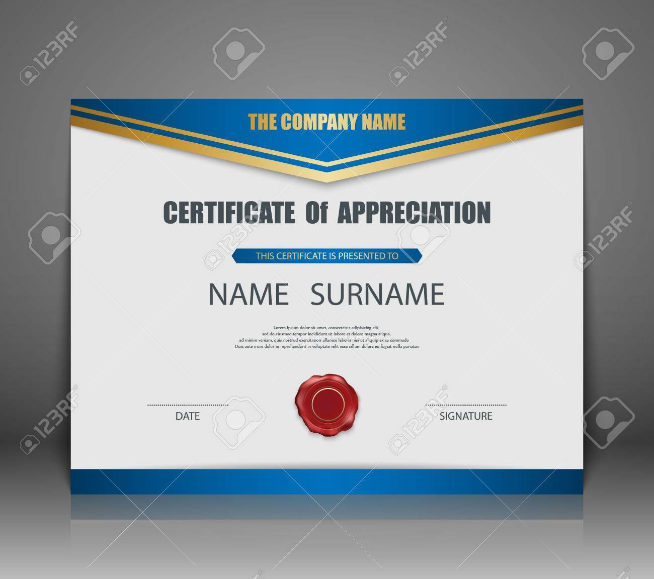 Vector Zertifikat Vorlage. Lizenzfrei Nutzbare Vektorgrafiken, Clip ...