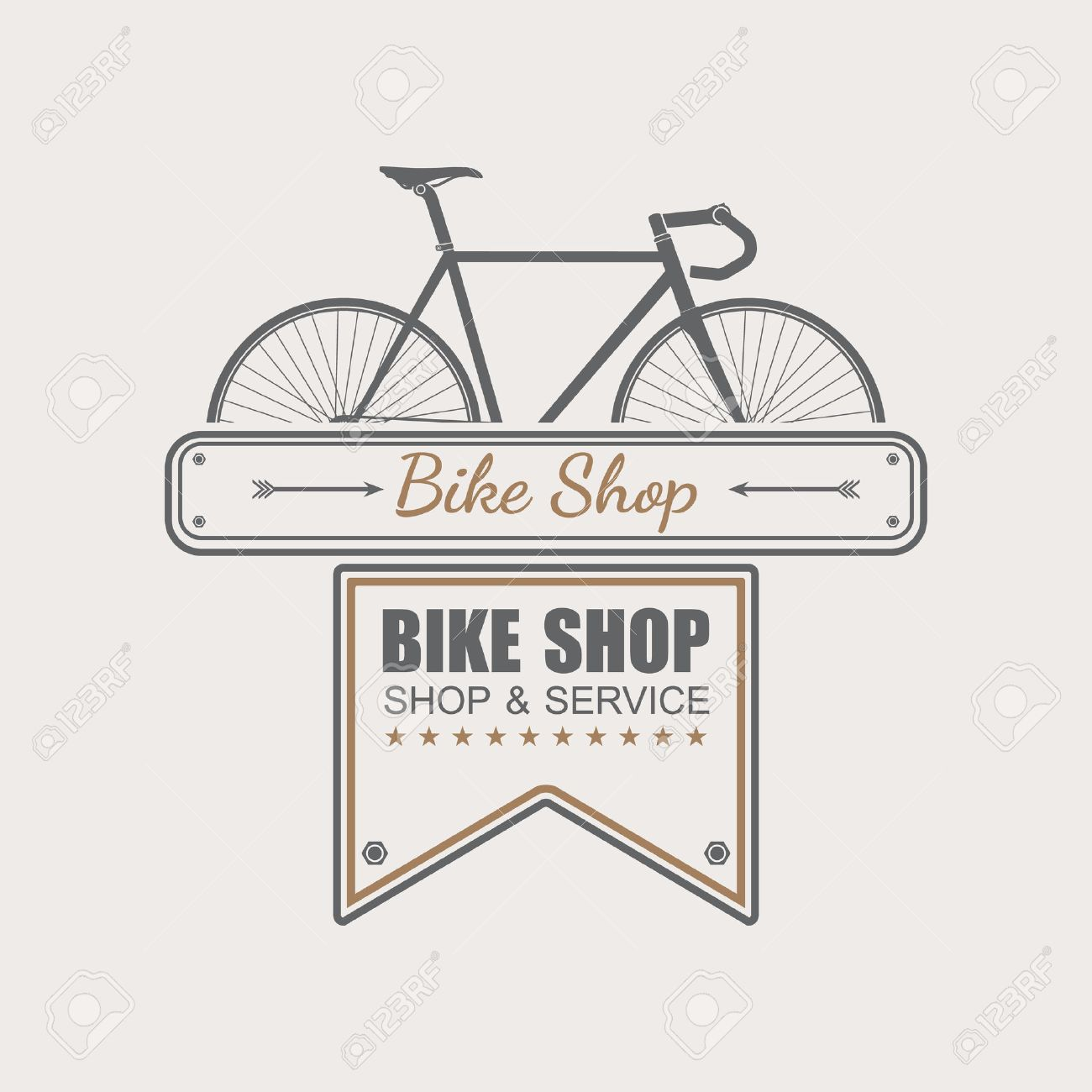 Bike Shop Logo Template,vector Royalty Free Cliparts, Vectors, And ...