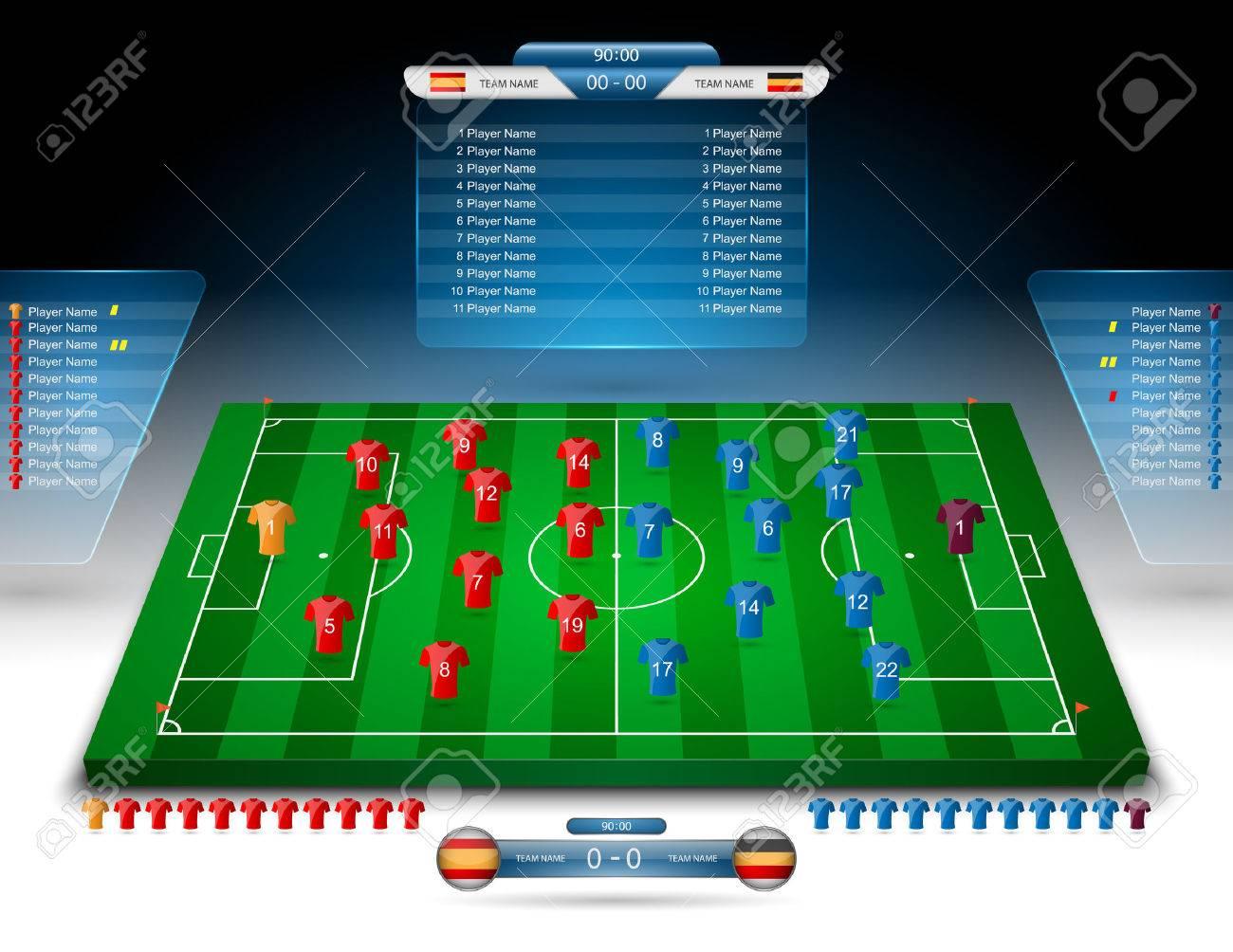 soccer field with scoreboard - 42541062