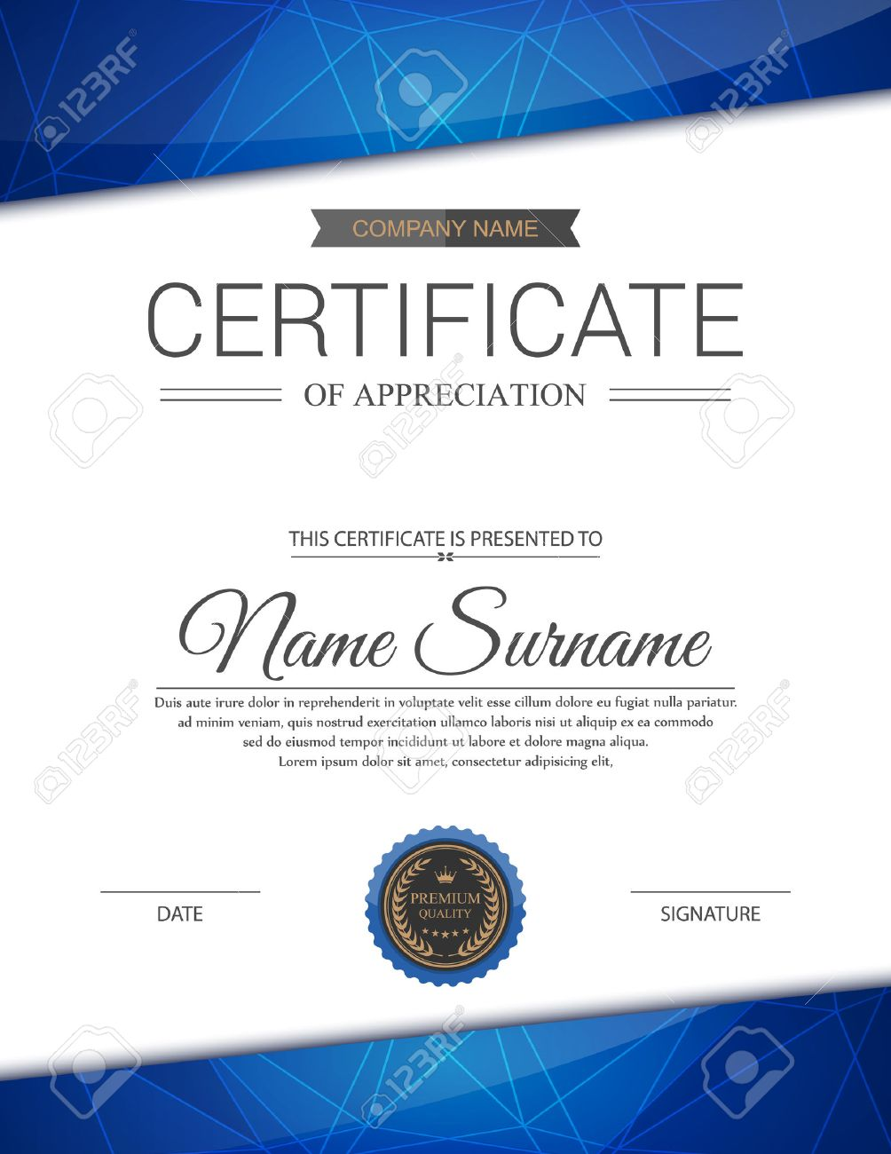 Appreciation certificate template vector image collections vector certificate template royalty free cliparts vectors and xflitez Gallery
