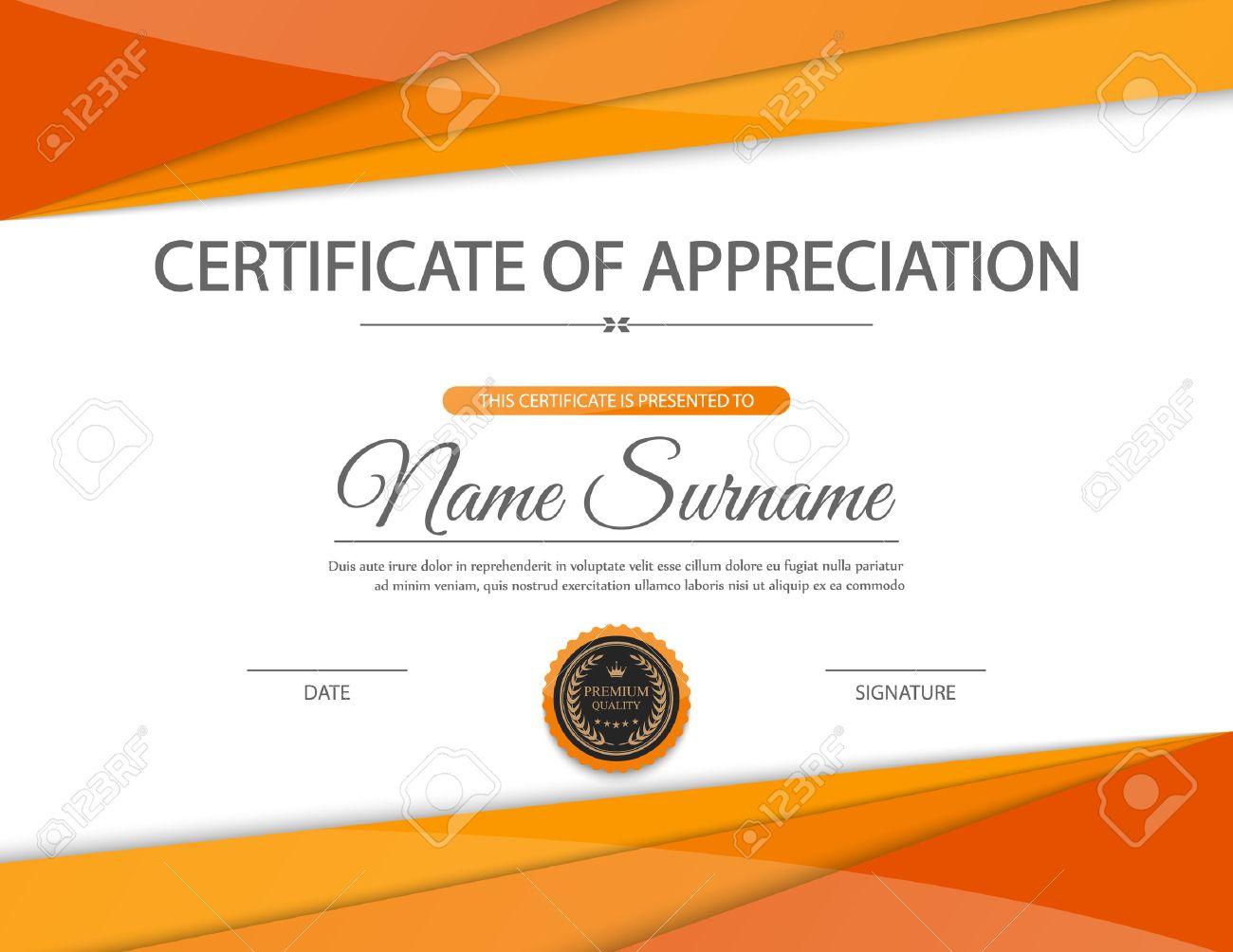 Formal Certificate Of Appreciation Template