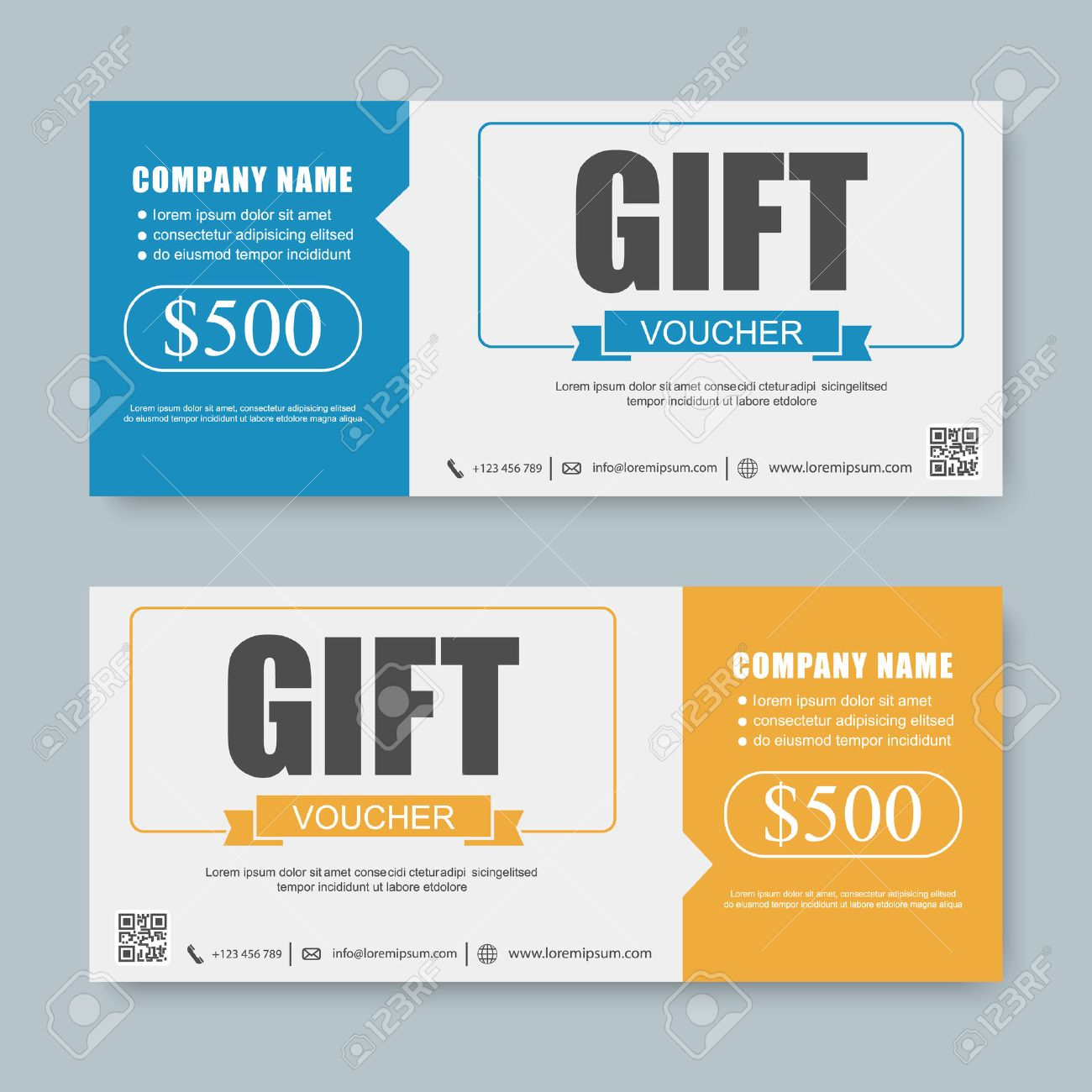 Voucher Gift Certificate Coupon Template Royalty Free Cliparts