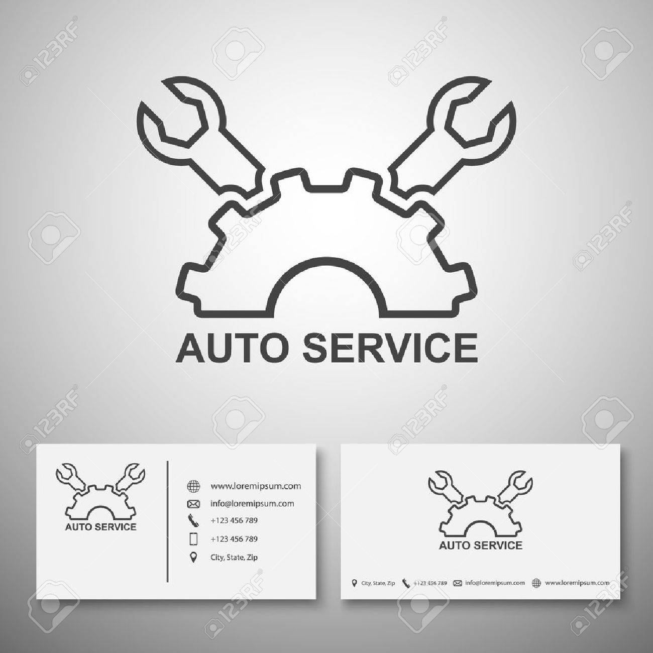 Car Service Logo,Business Card Template,vector Royalty Free Cliparts ...