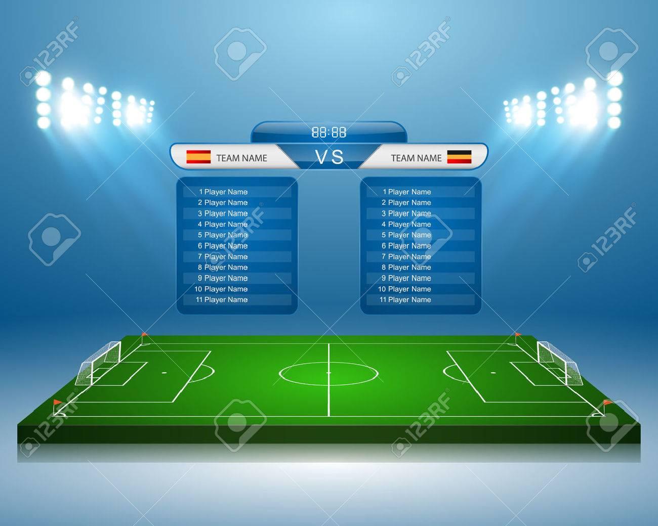 Soccer field with scoreboard - 50059299