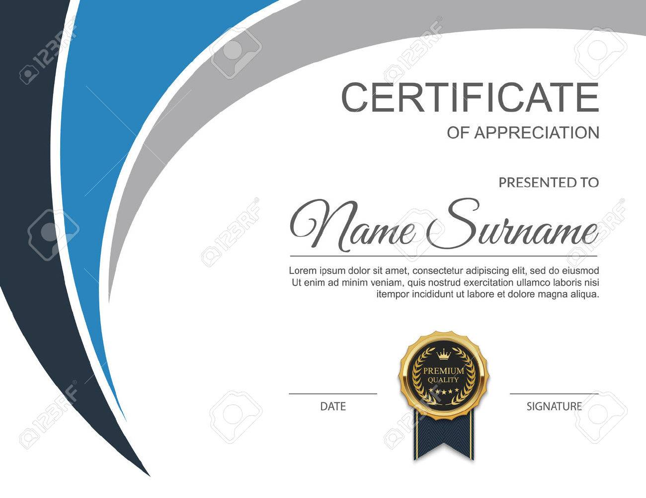 Certificate Template. Modern Certificate. Illustration Royalty Free ...