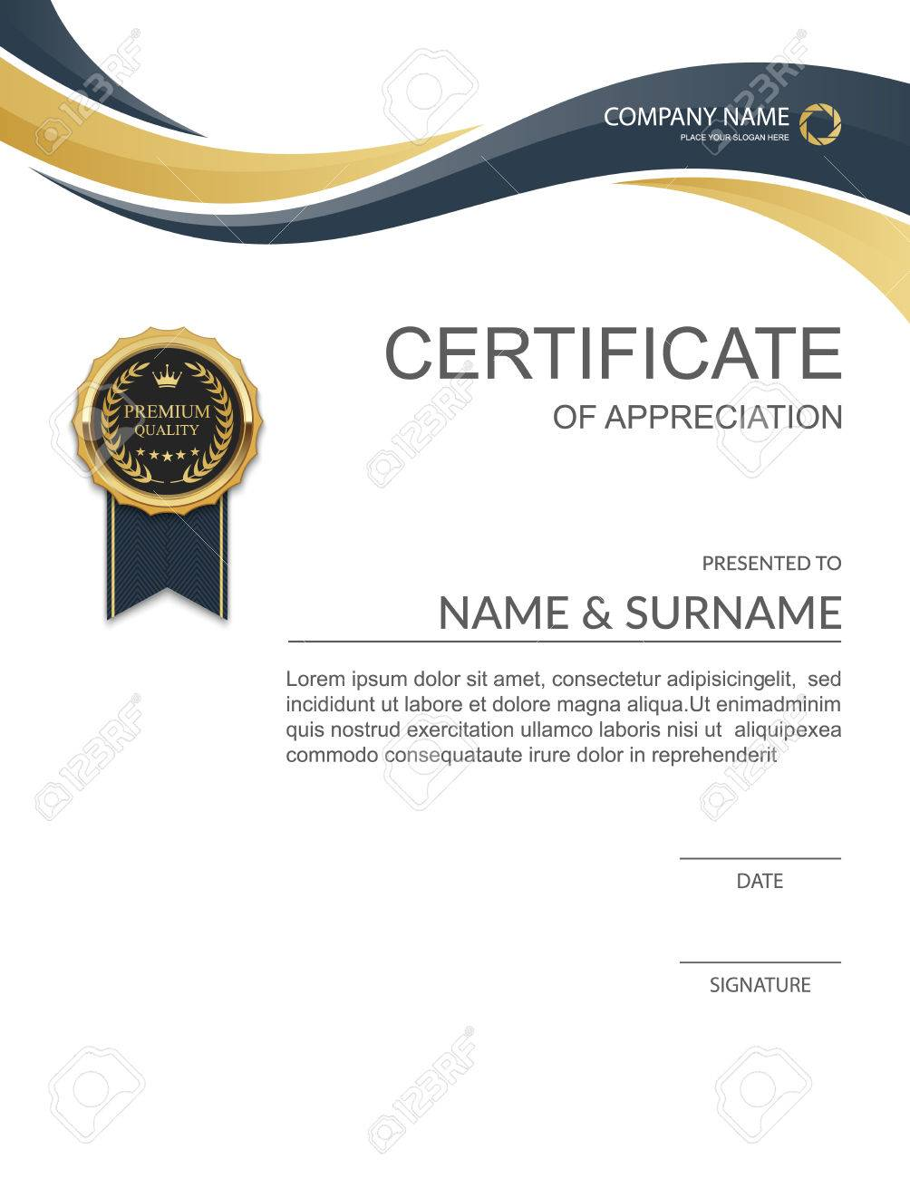 Certificate Template Modern Certificate Template Design Royalty