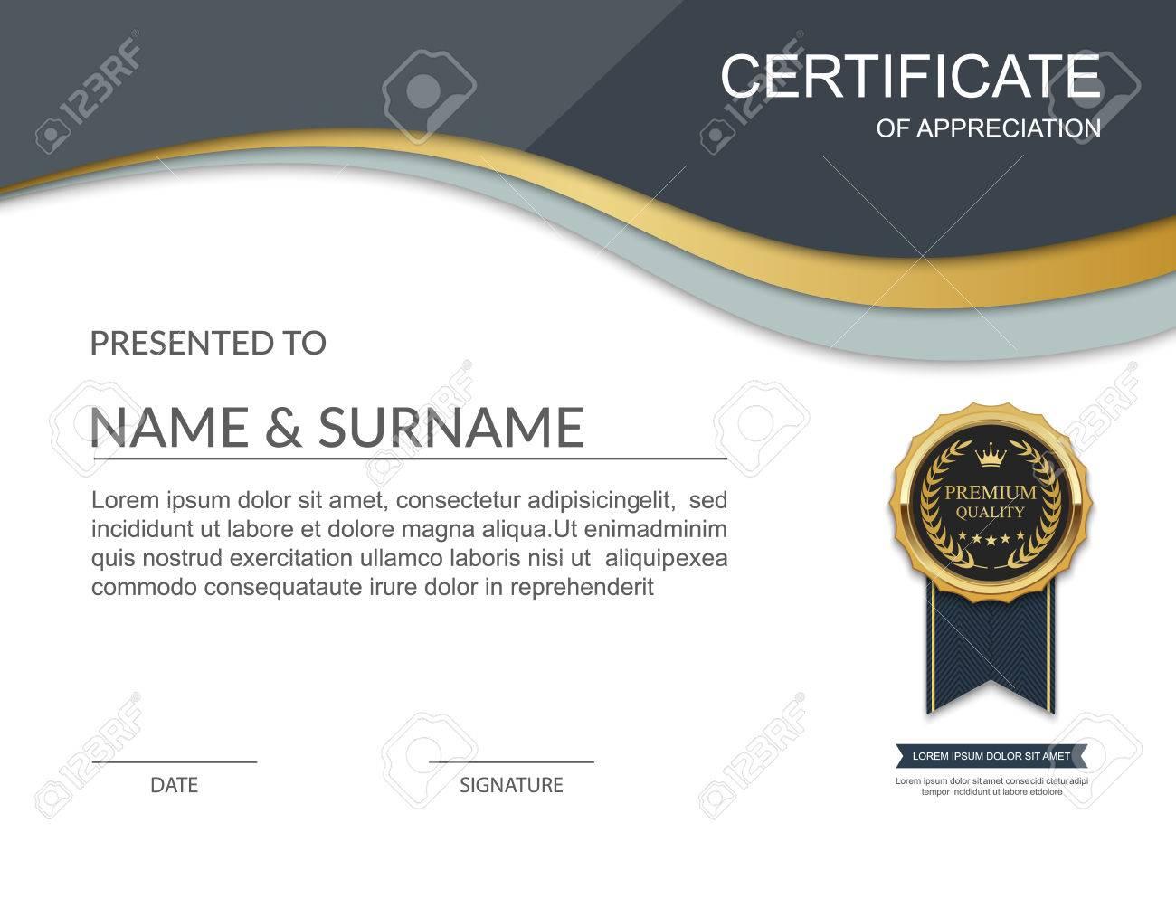Certificate Template Modern Certificate Template Design Royalty