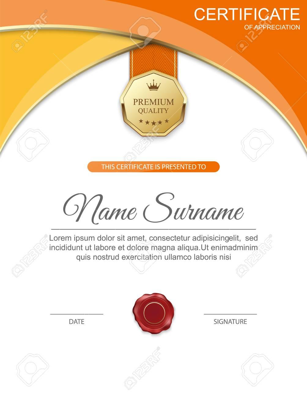 Vector Zertifikatvorlage. Lizenzfrei Nutzbare Vektorgrafiken, Clip ...