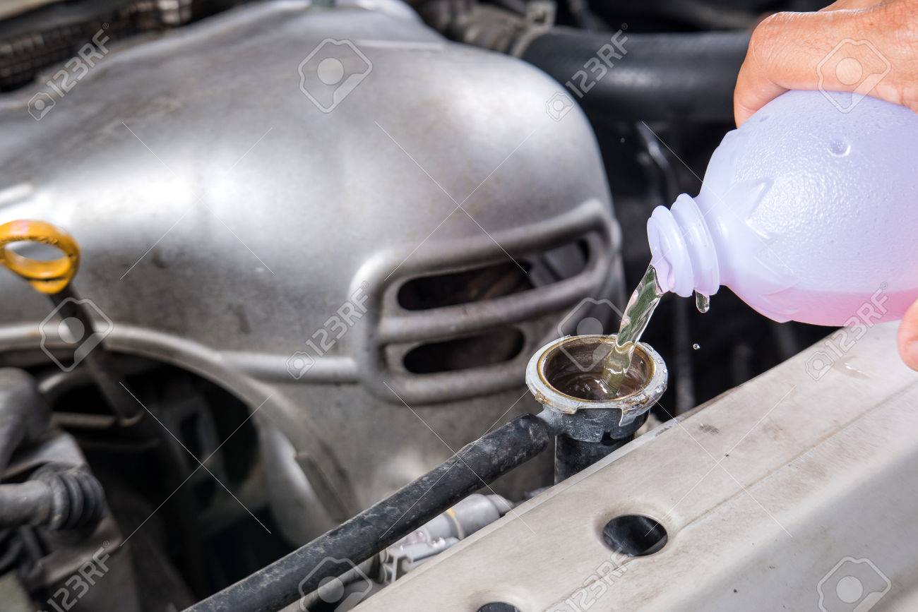 Design of a car radiator - Add Water To Car Radiator Check Water Car Radiator Stock Photo 58815648