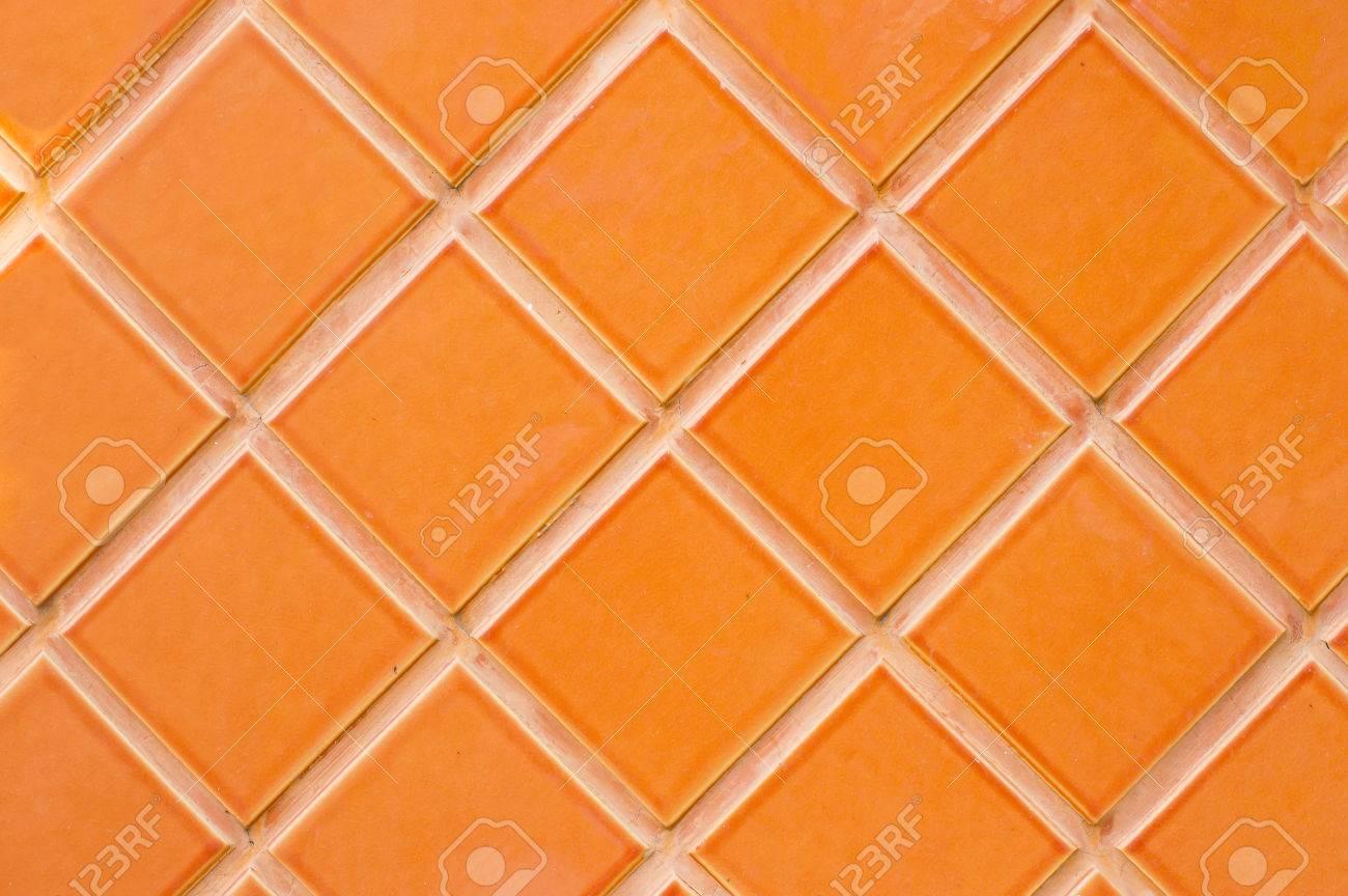 Braun Glänzend Mosaik Fliesen Steingut Material Im Badezimmer Standard Bild    27119731