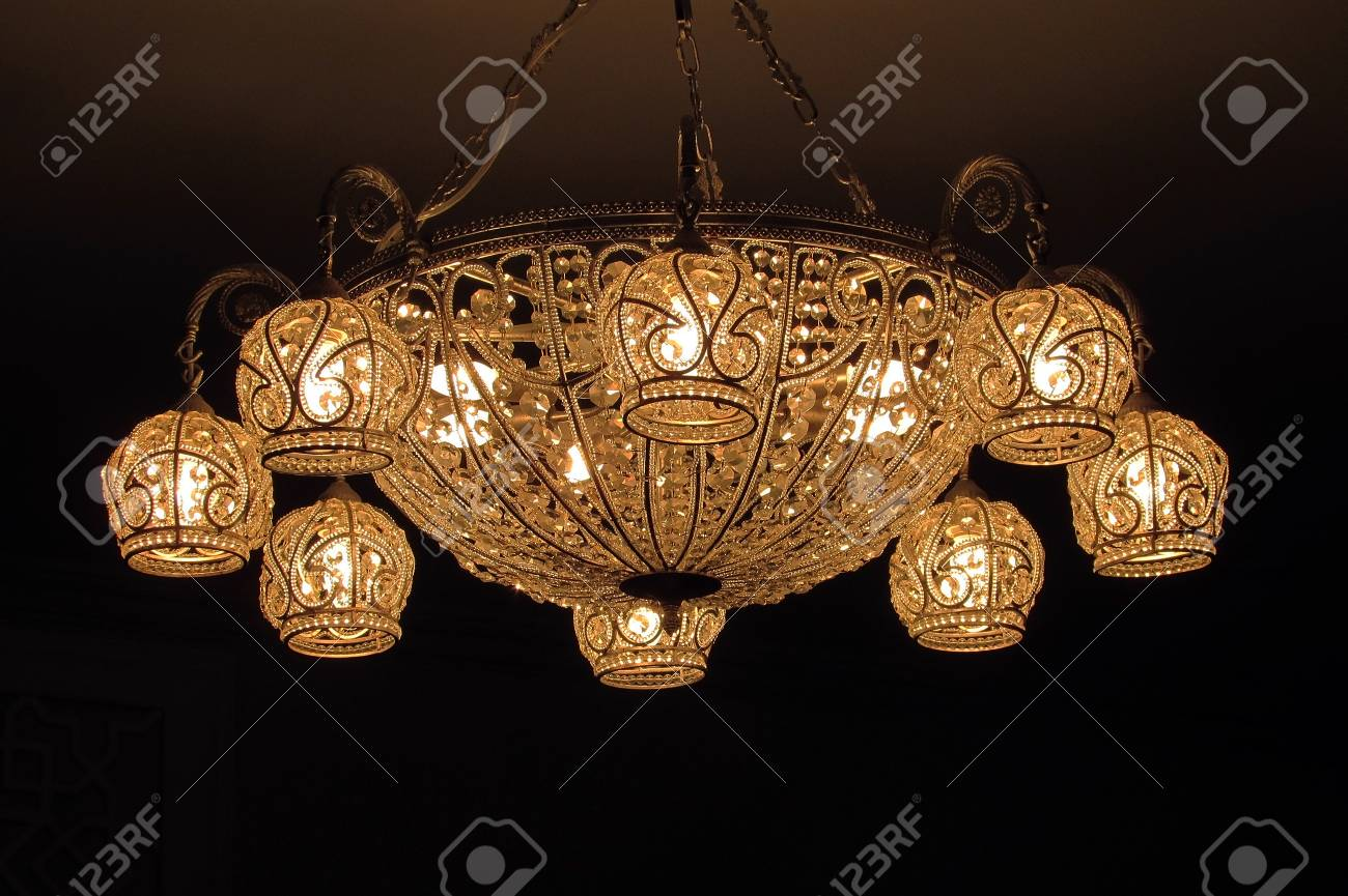 Vintage chandelier on black background stock photo picture and stock photo vintage chandelier on black background mozeypictures Choice Image