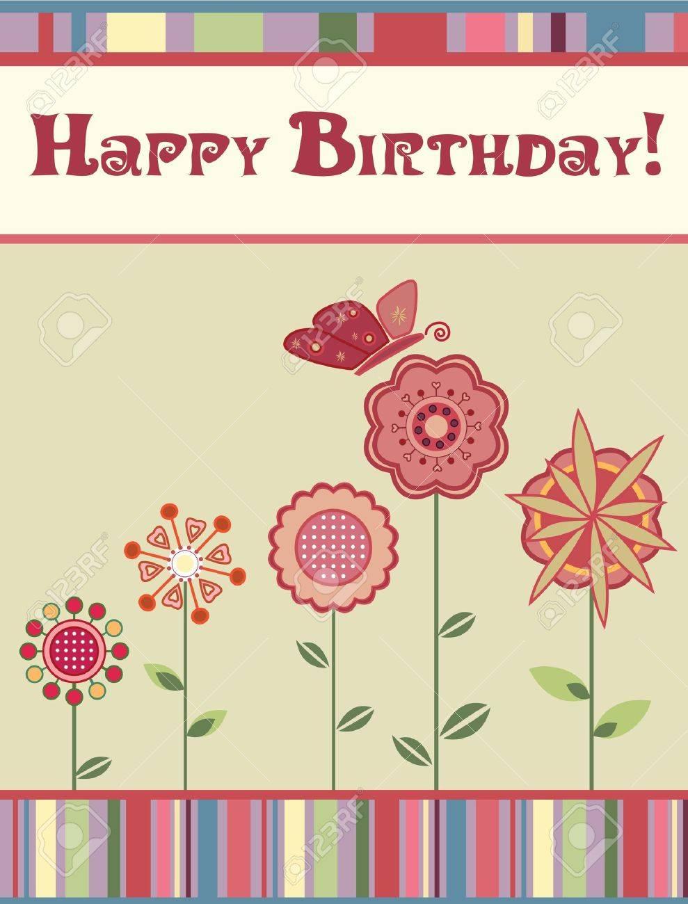 Happy Birthday card Stock Vector - 14560340