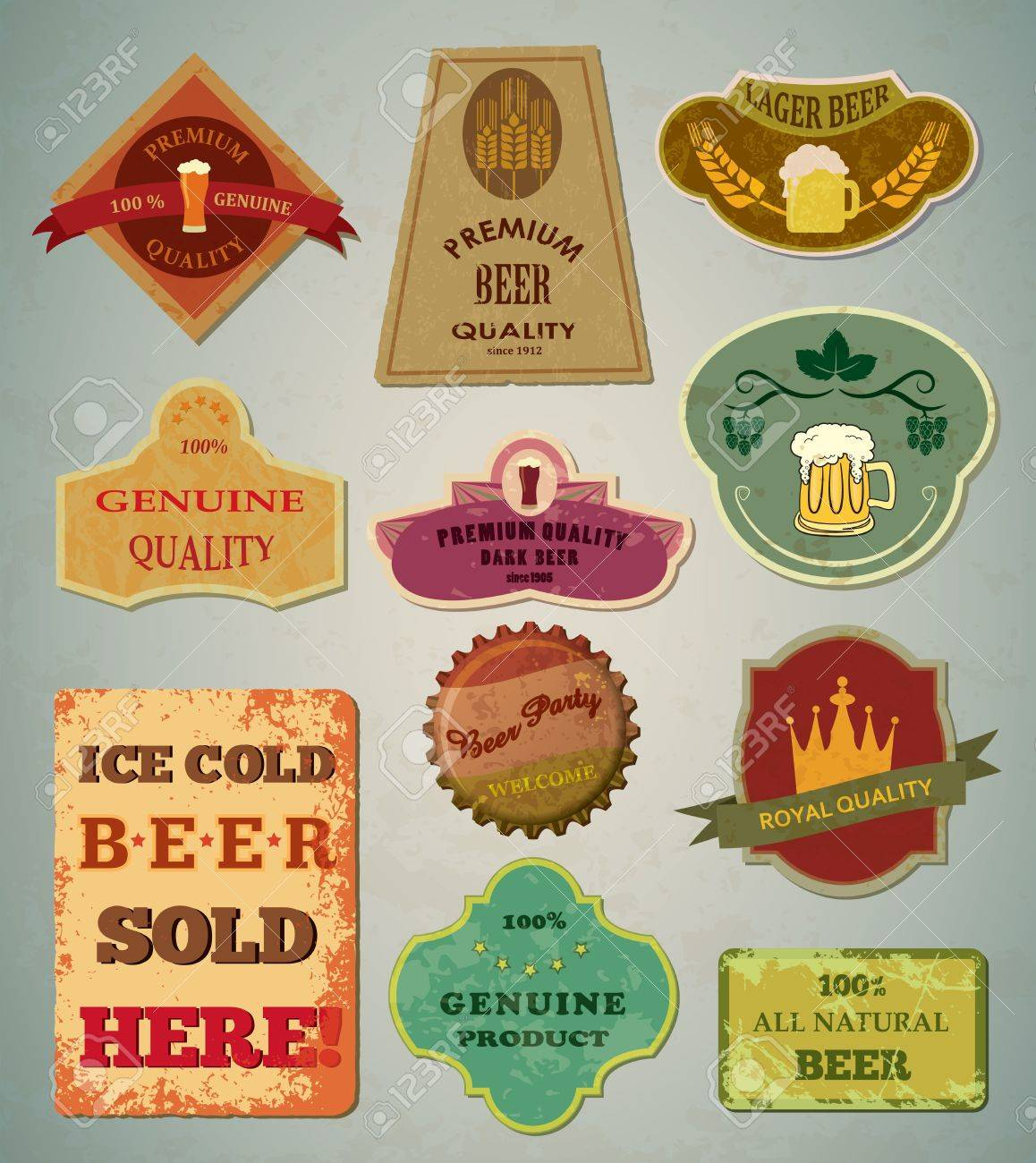 20,079 Label Beer Stock Vector Illustration And Royalty Free Label ...