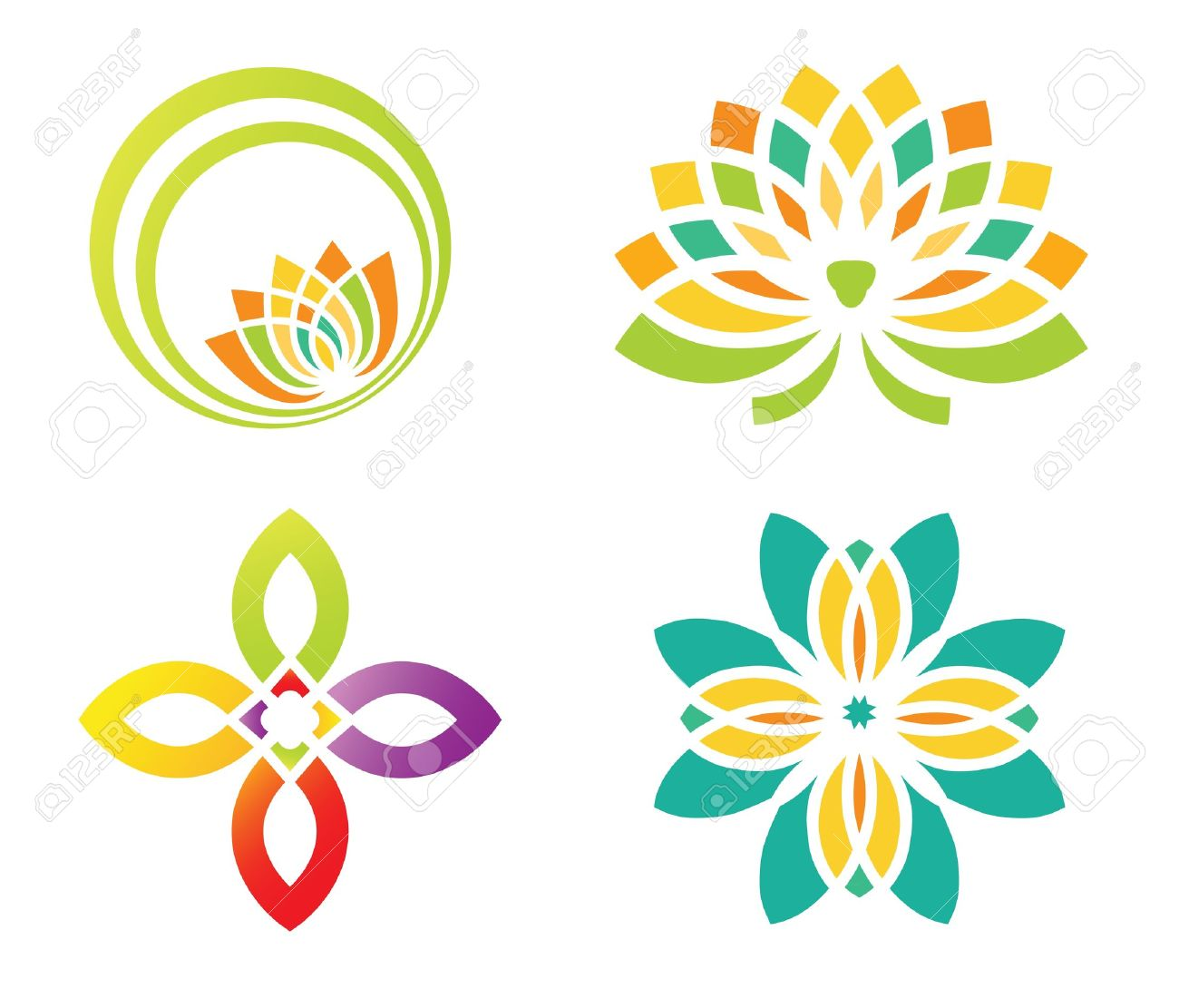 abstract floral design for logo designing royalty free cliparts