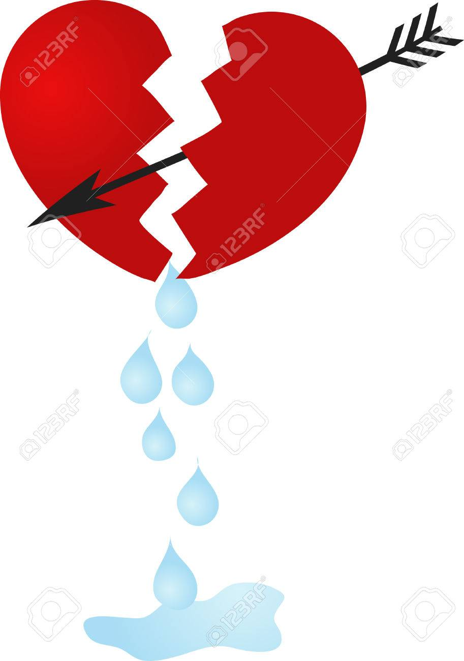 Broken Heart And The Tears Royalty Free Cliparts Vectors And Stock