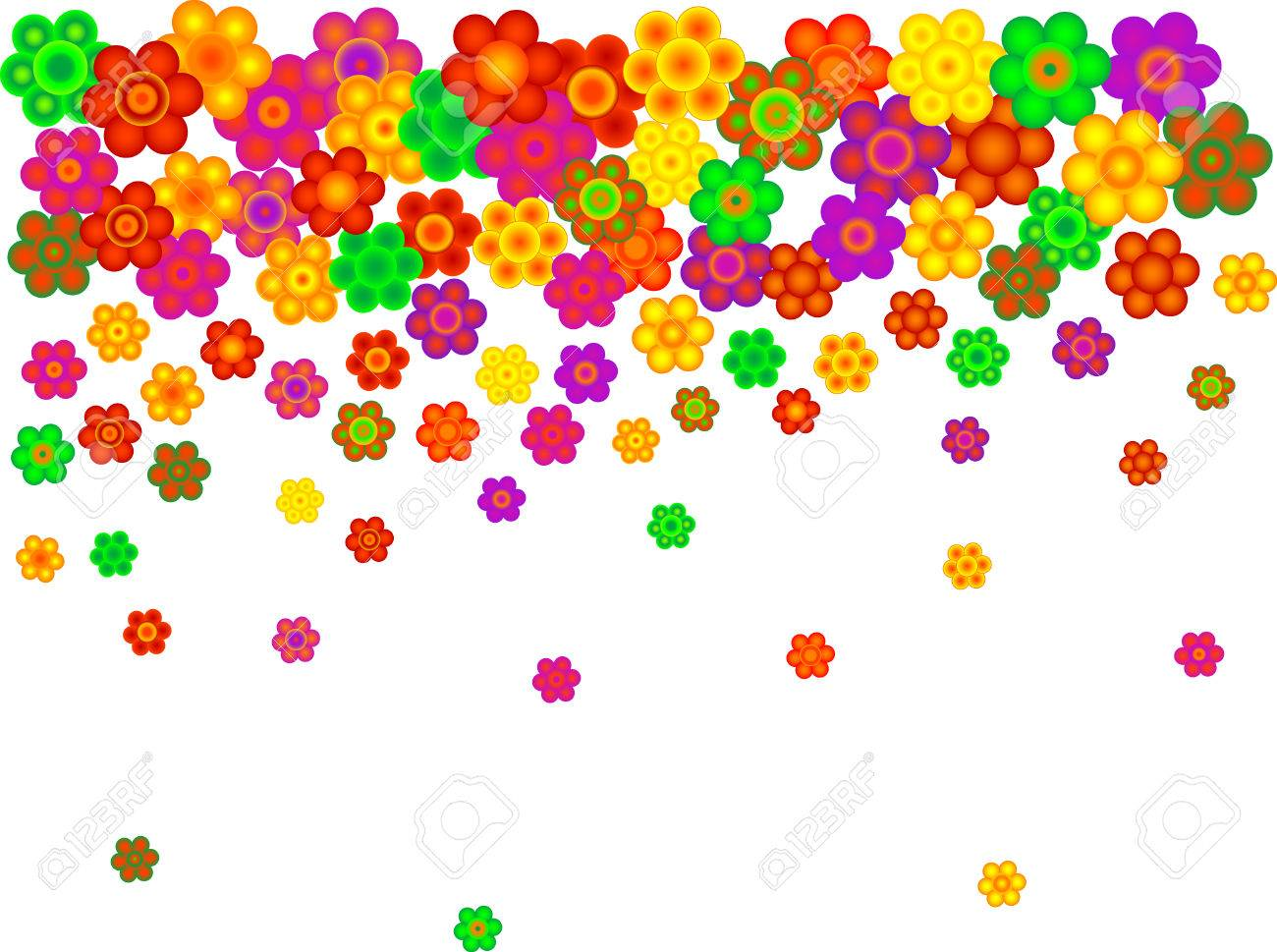 Abstract floral background with blooms Stock Vector - 2812597