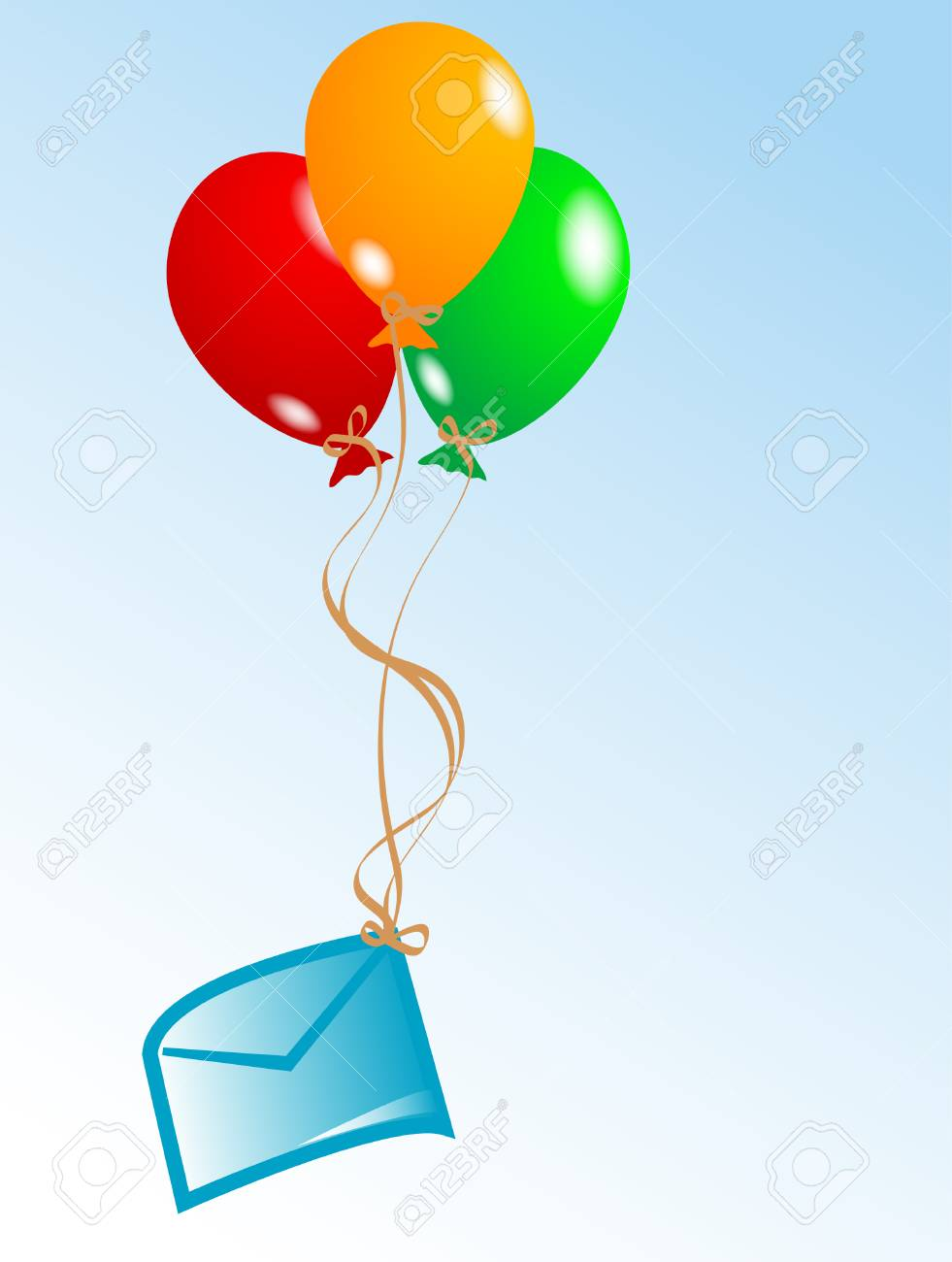 Party background with colorful balloons Stock Vector - 3143365