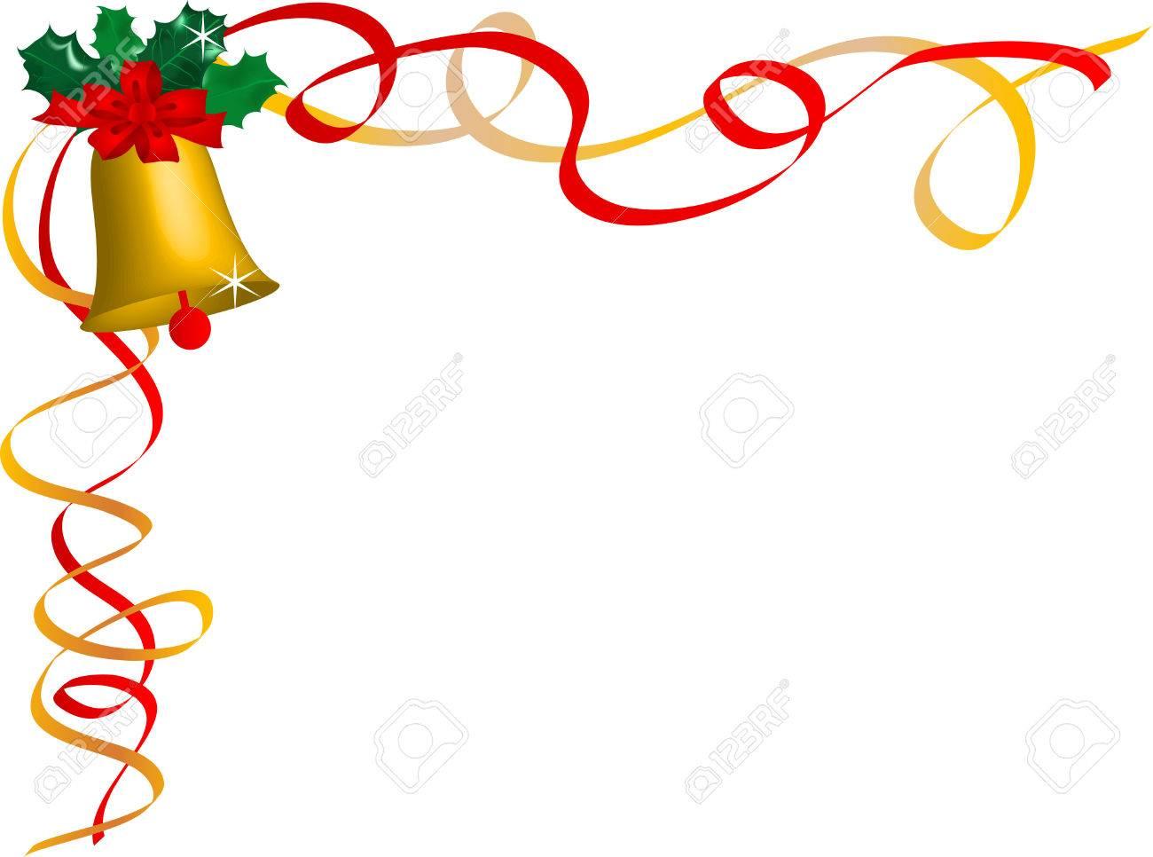 Weihnachten Rahmen Mit Holly Und Bänder Lizenzfrei Nutzbare