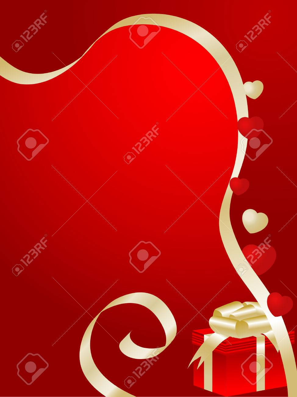 Valentine day background - vector illustration Stock Vector - 4214835