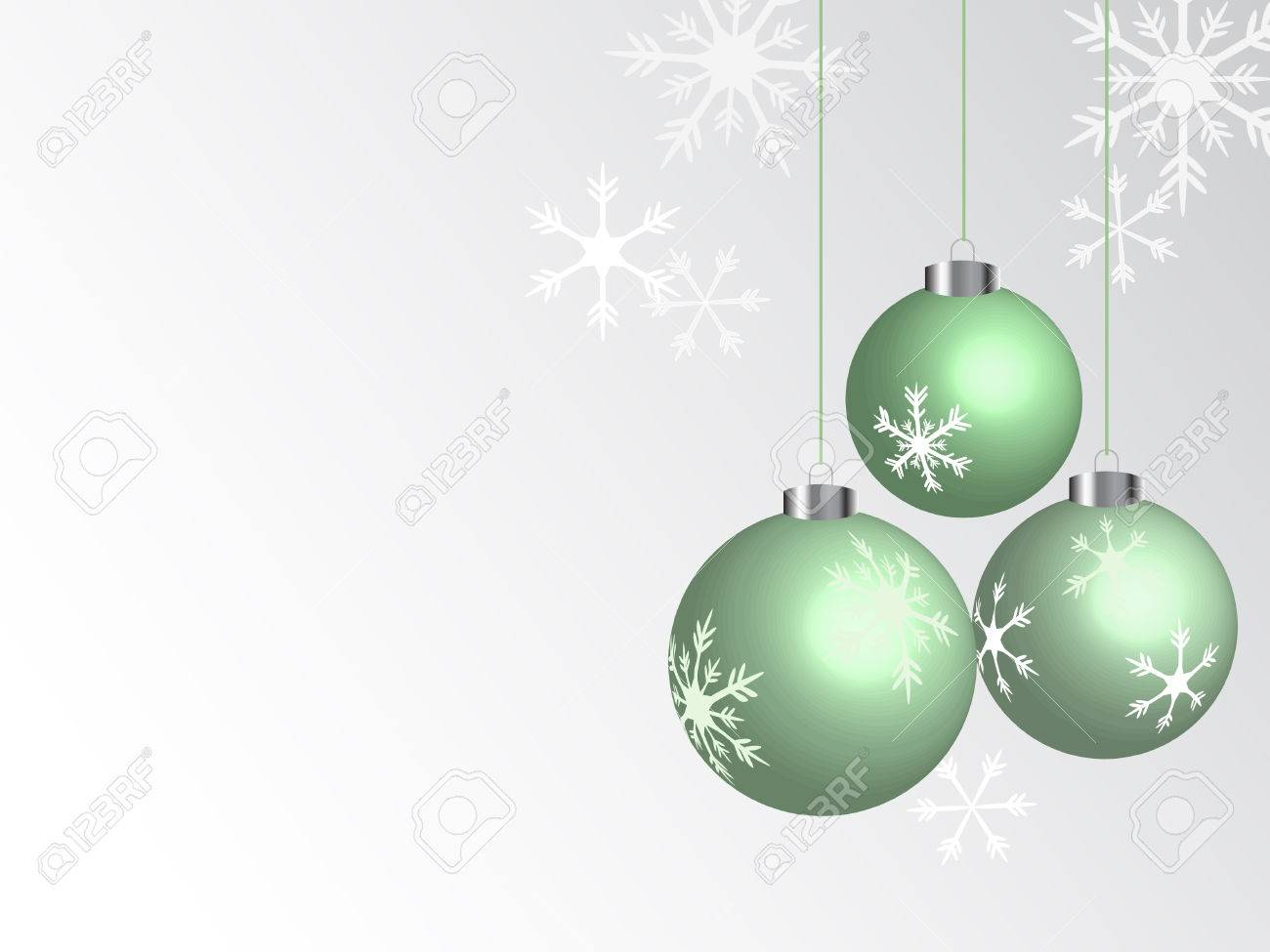 Green christmas balls - vector illustration Stock Vector - 5719712