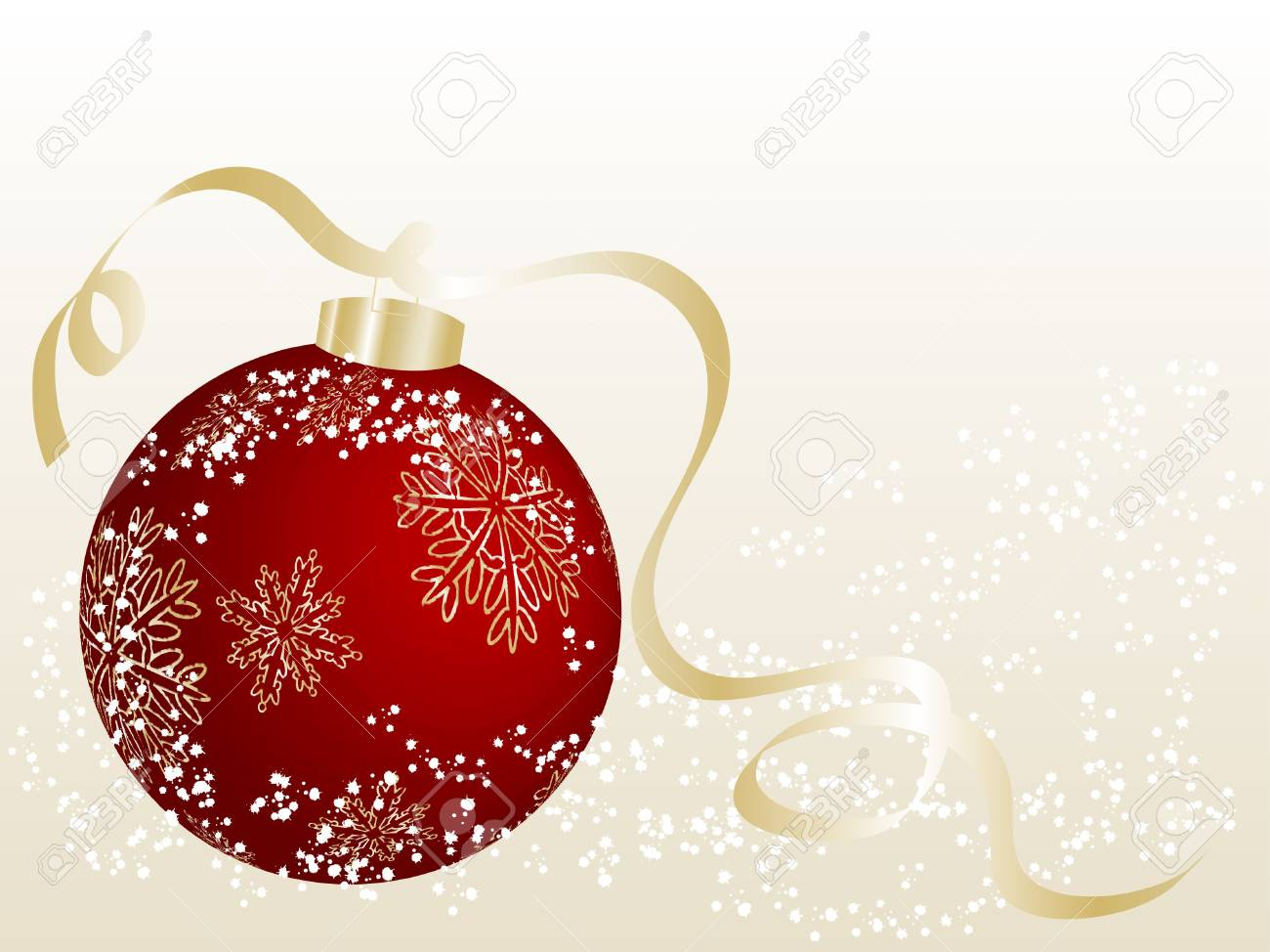 Abstract christmas background with red ball Stock Photo - 5773870
