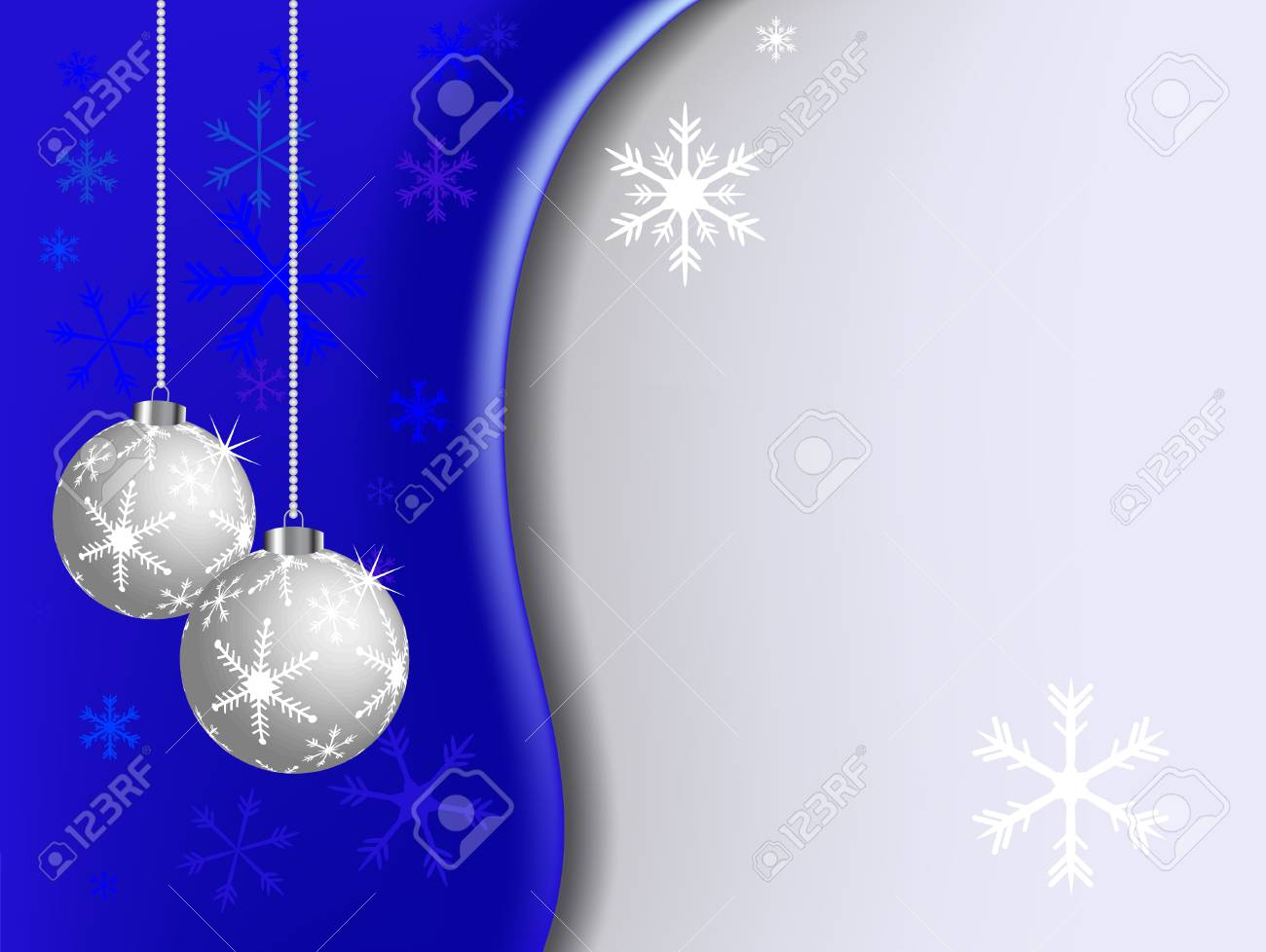 Abstract christmas background with balls Stock Vector - 5773872