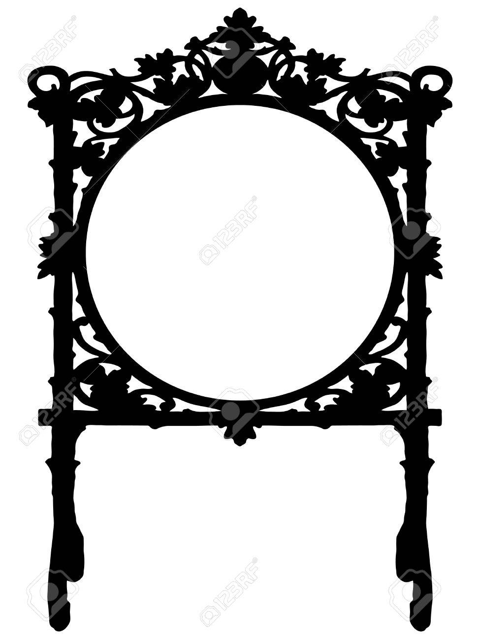 Black Baroque Frame On White Background Royalty Free Cliparts ...