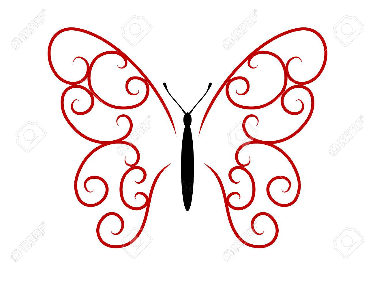 Abstract tattoo butterfly Stock Vector - 7494932
