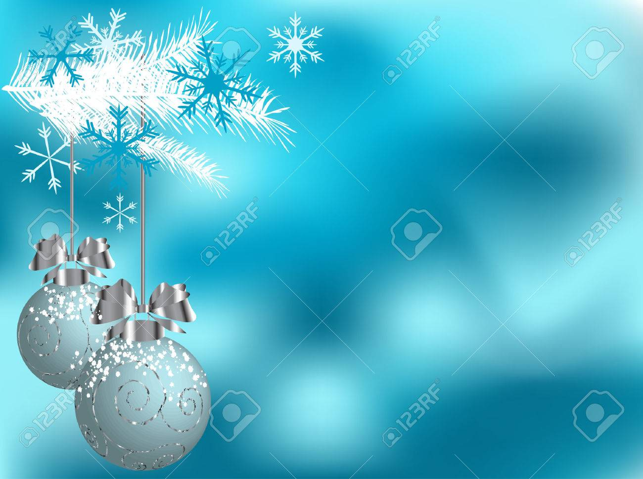 Christmas abstract background  with balls - vector illustration Stock Vector - 7801003