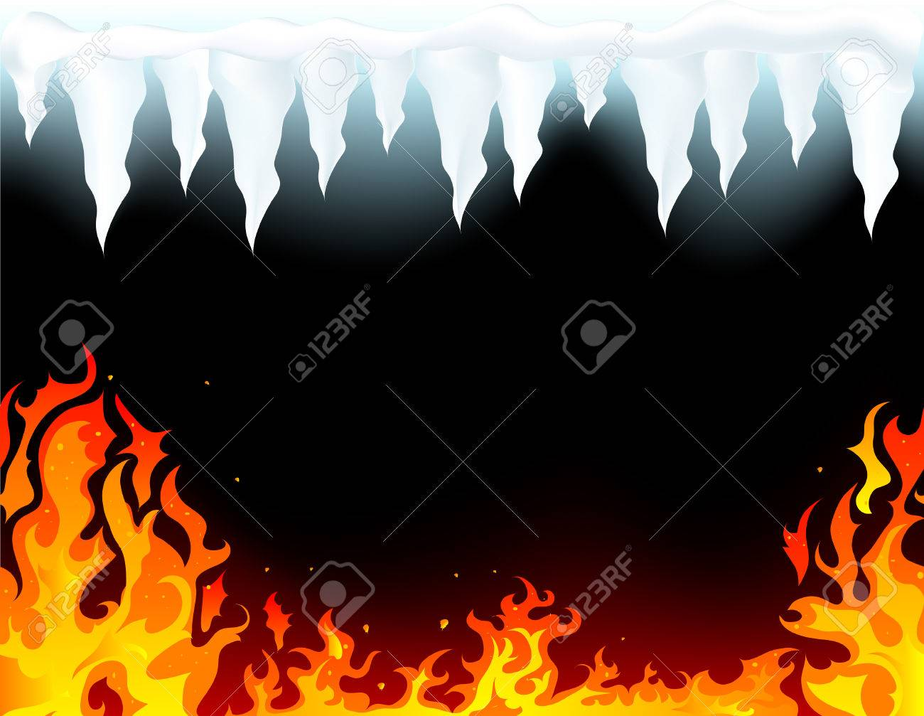 Abstract fire and ice background Stock Vector - 7950534