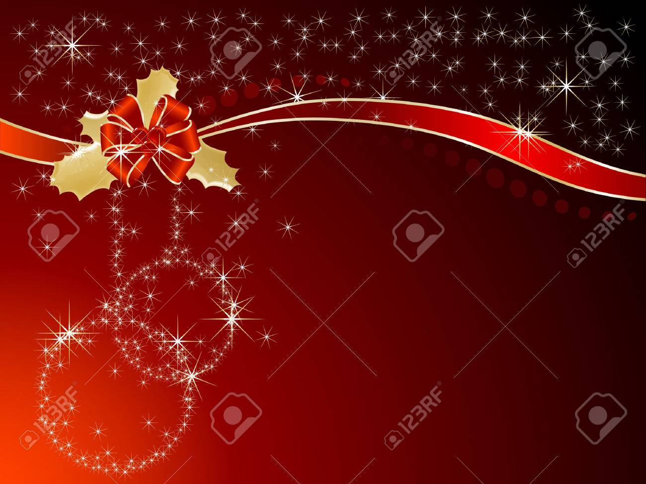 Red ribbon and bow -  illustration Stock Vector - 8148441