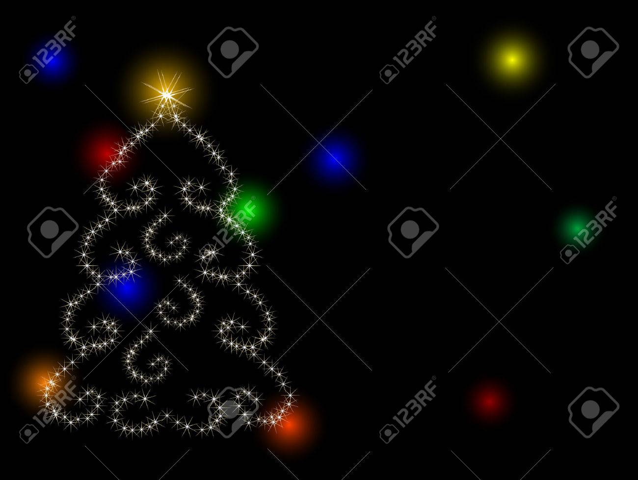 Abstract christmas tree with stars Stock Vector - 8212311