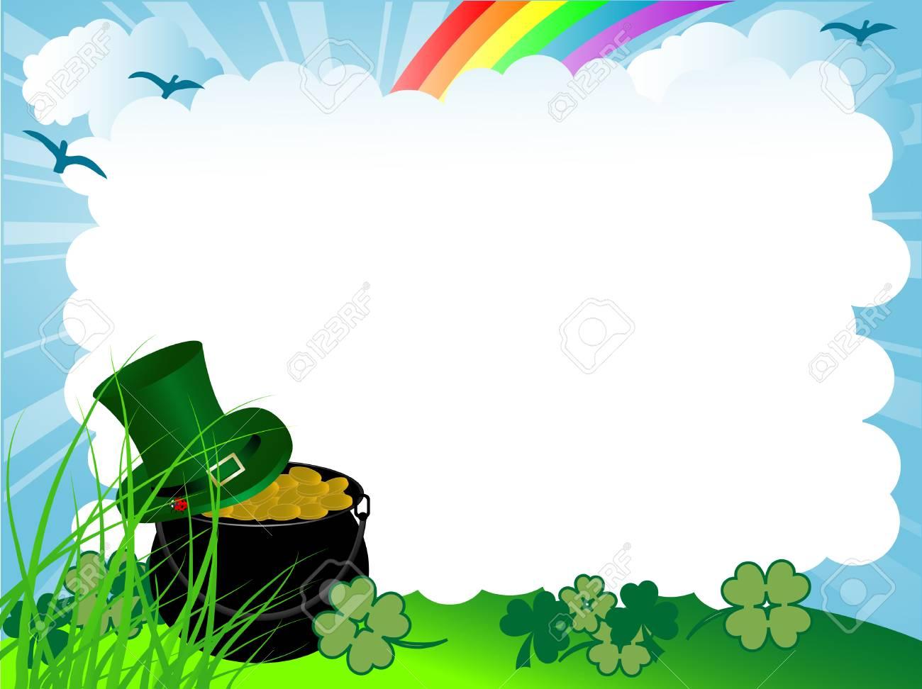 St.Patrick's cauldron with golden money Stock Vector - 8927891