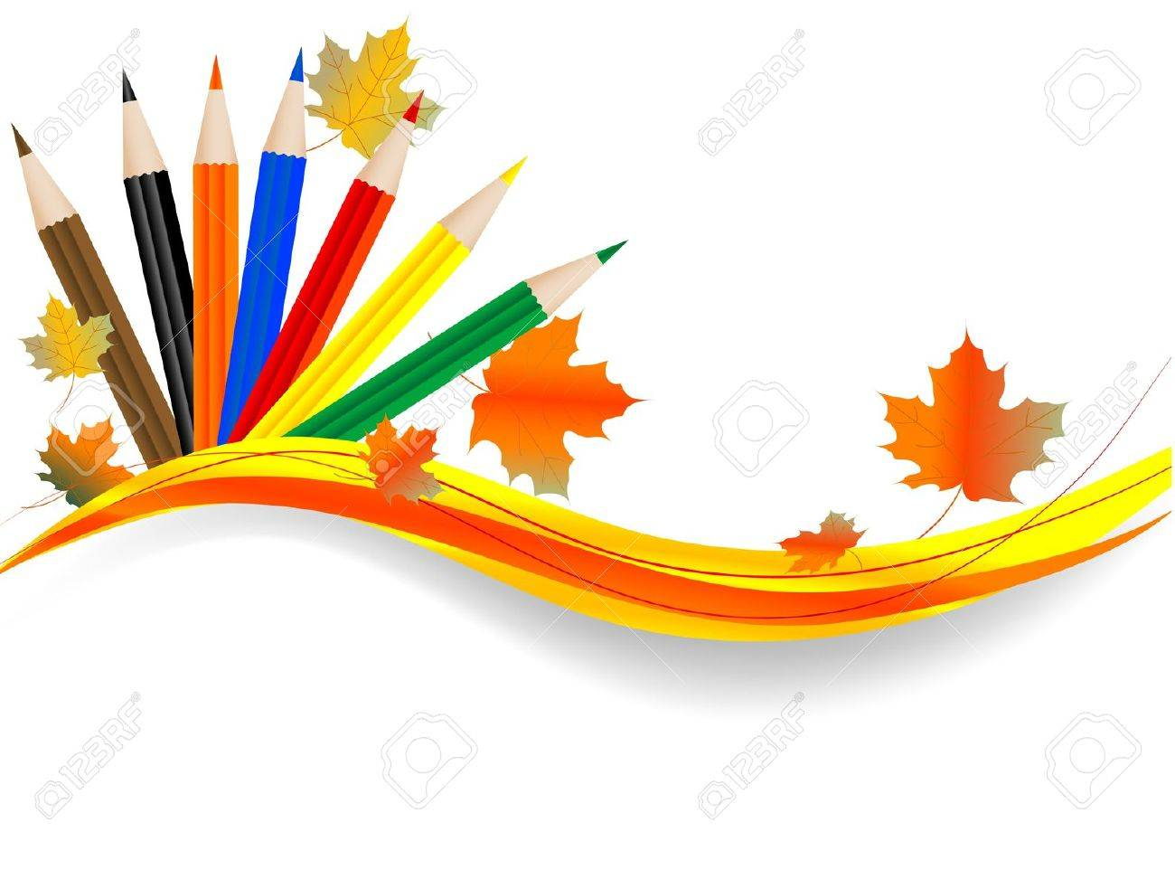 Abstract background with color pencils Stock Vector - 10430713