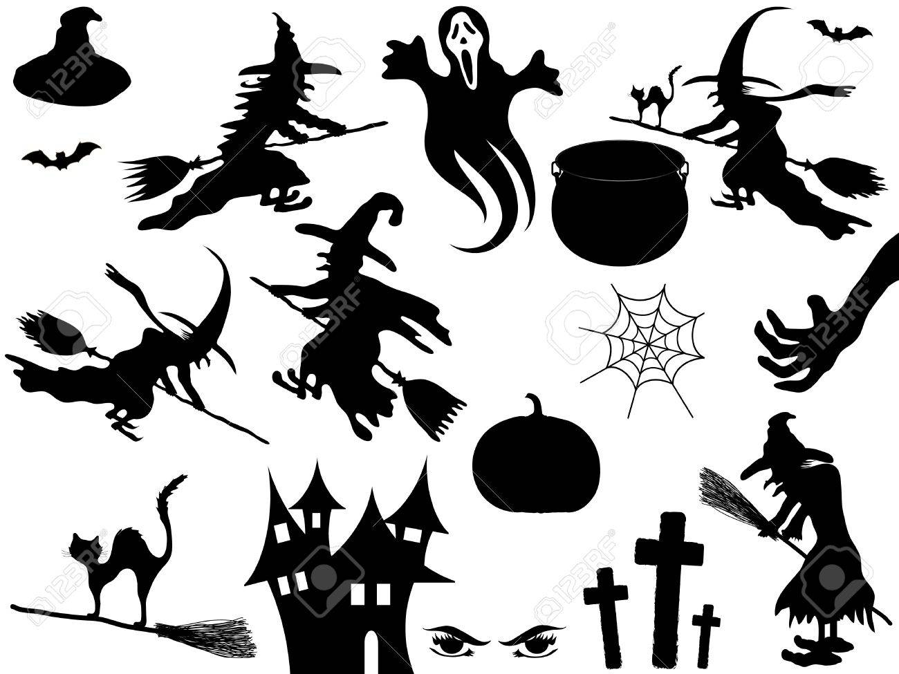 Collection of Halloween elements Stock Vector - 10703703