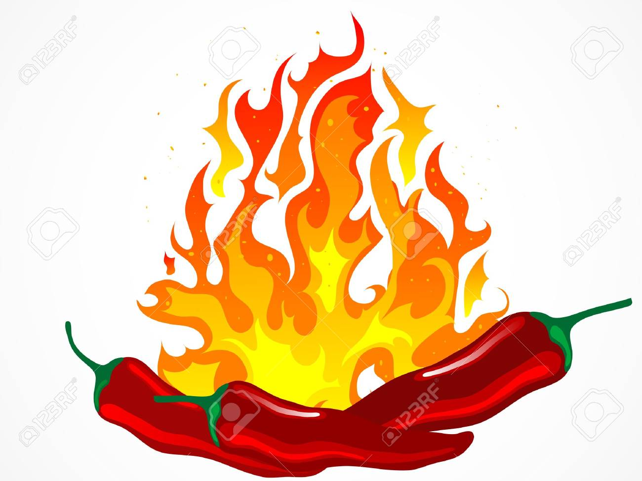 d292d390f5a2 Fiery red hot chilli peppers Stock Vector - 11673826