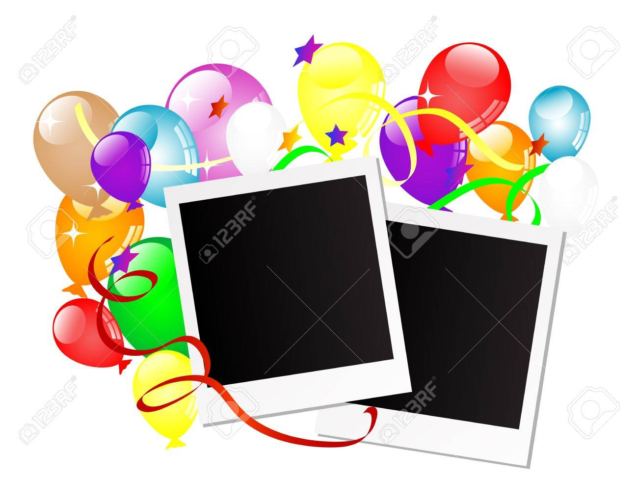 Carnival background with balloons and ribbons Stock Vector - 17166518