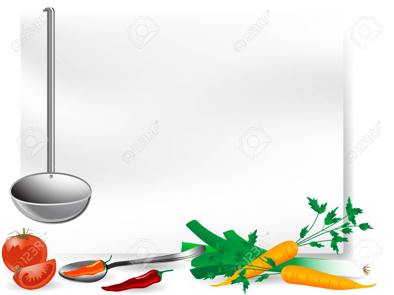 Blank page with vegetables and setting Stock Vector - 17166293