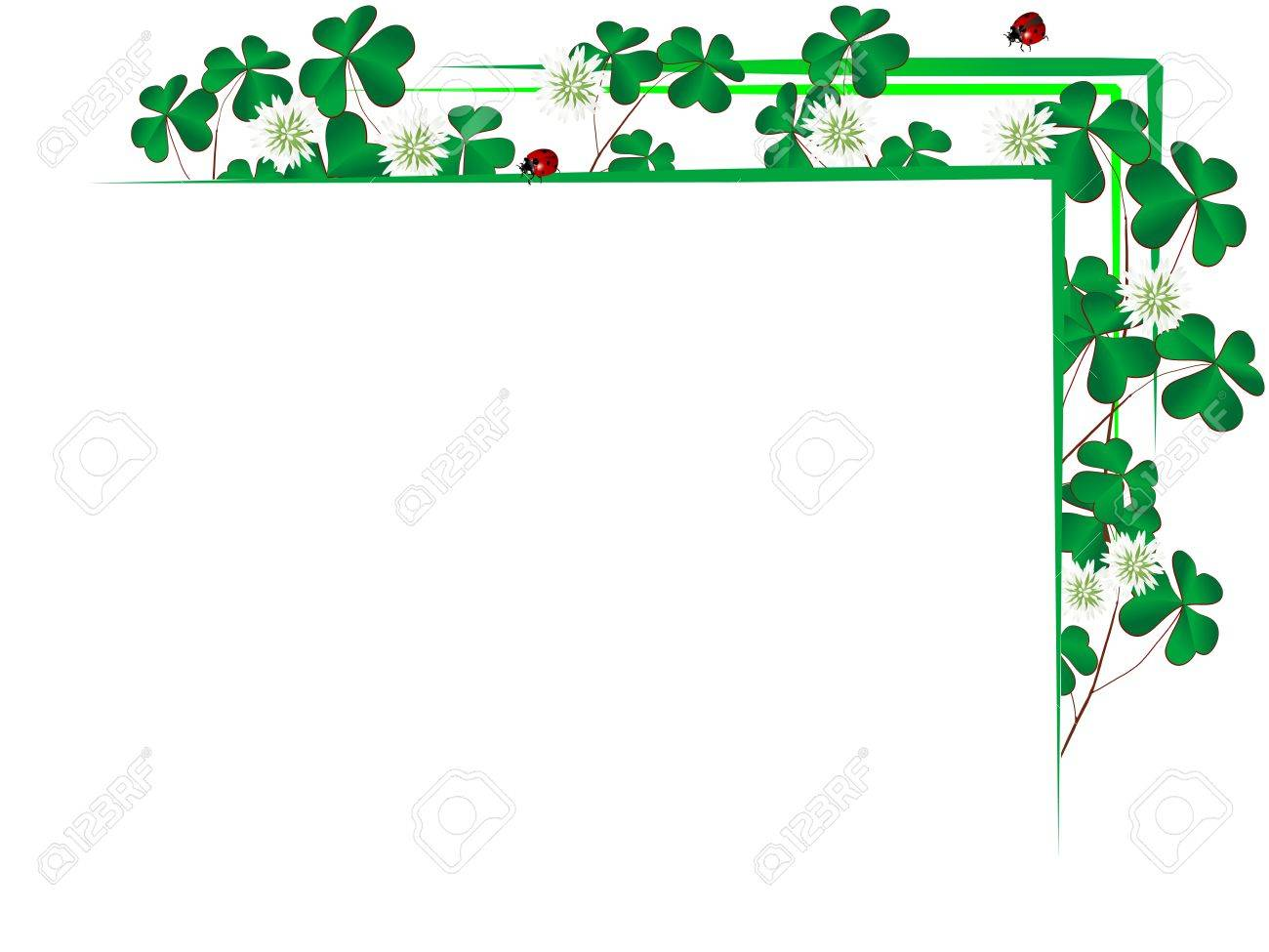 Blank paper with border from clover leaves Stock Vector - 17584442