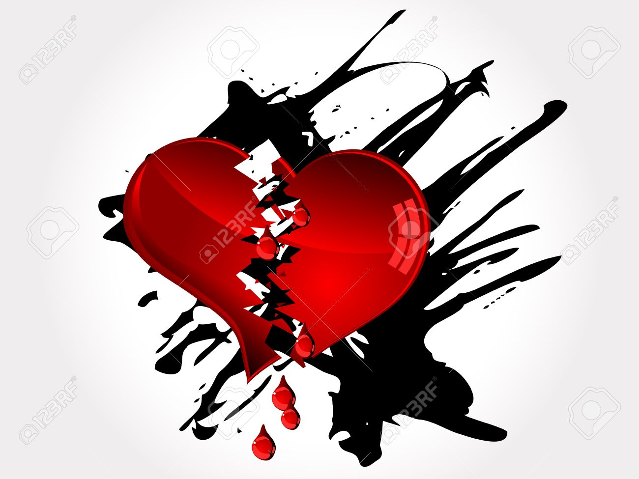 Red Broken Heart And Red Tears Royalty Free Cliparts Vectors And